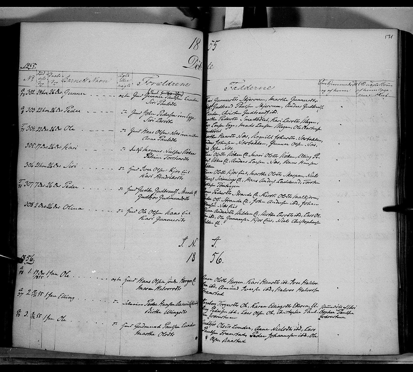 SAH, Gran prestekontor, Ministerialbok nr. 11, 1842-1856, s. 530-531