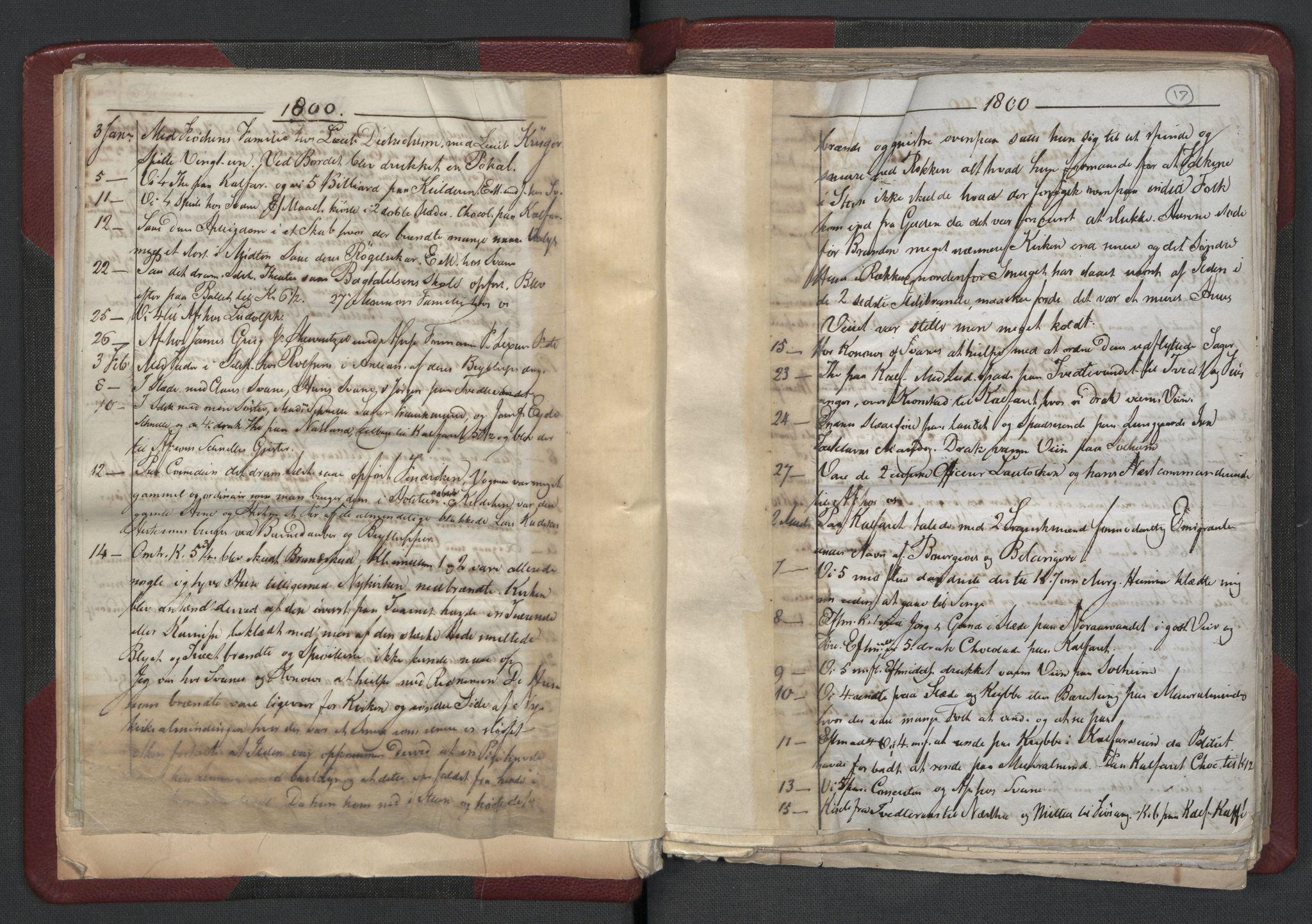RA, Meltzer, Fredrik, F/L0001: Dagbok for årene 1796-1808, 1811, 1817, 1796-1817, s. 16b-17a