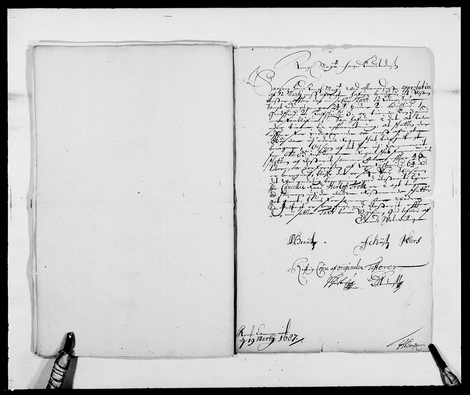 RA, Rentekammeret inntil 1814, Reviderte regnskaper, Fogderegnskap, R47/L2855: Fogderegnskap Ryfylke, 1685-1688, s. 134