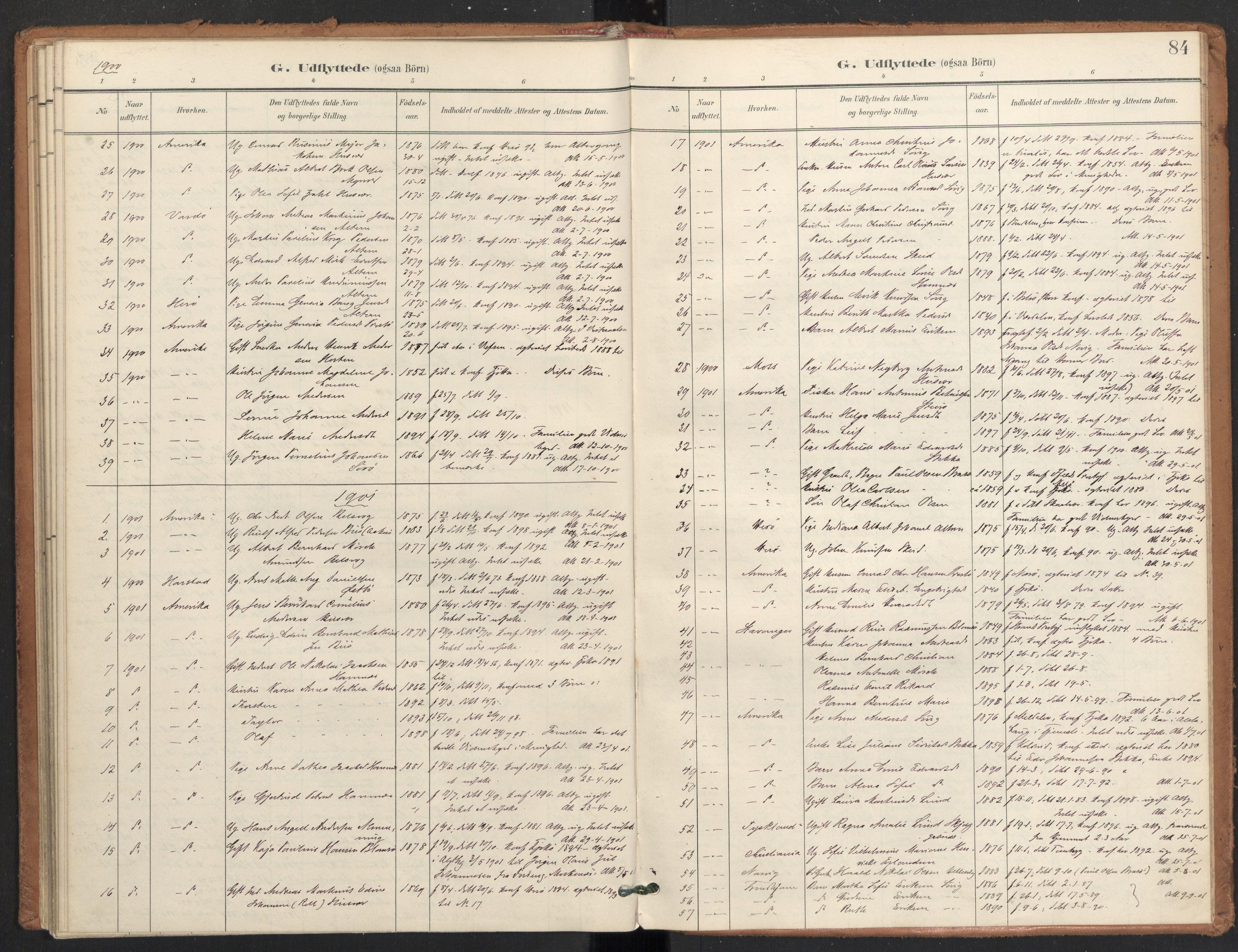 SAT, Ministerialprotokoller, klokkerbøker og fødselsregistre - Nordland, 830/L0454: Ministerialbok nr. 830A18, 1897-1913, s. 84