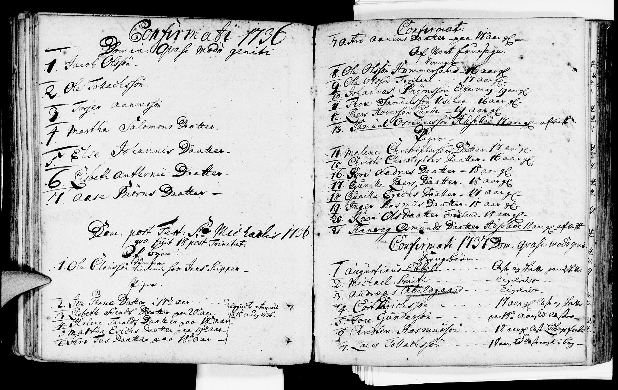 SAST, Domkirken sokneprestkontor, 30/30BA/L0002: Ministerialbok nr. A 2 /1, 1727-1738