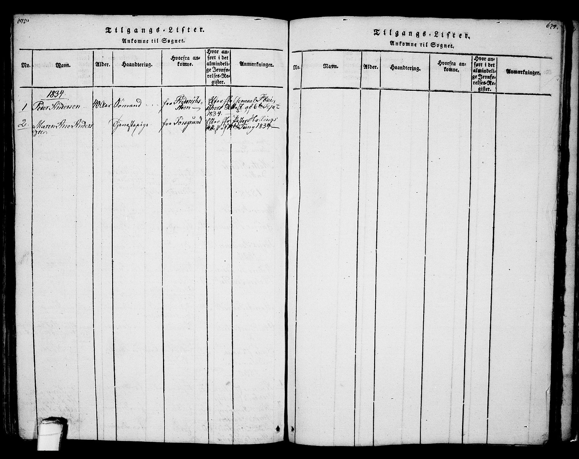 SAKO, Bamble kirkebøker, F/Fa/L0003: Ministerialbok nr. I 3 /2, 1815-1834, s. 673-674