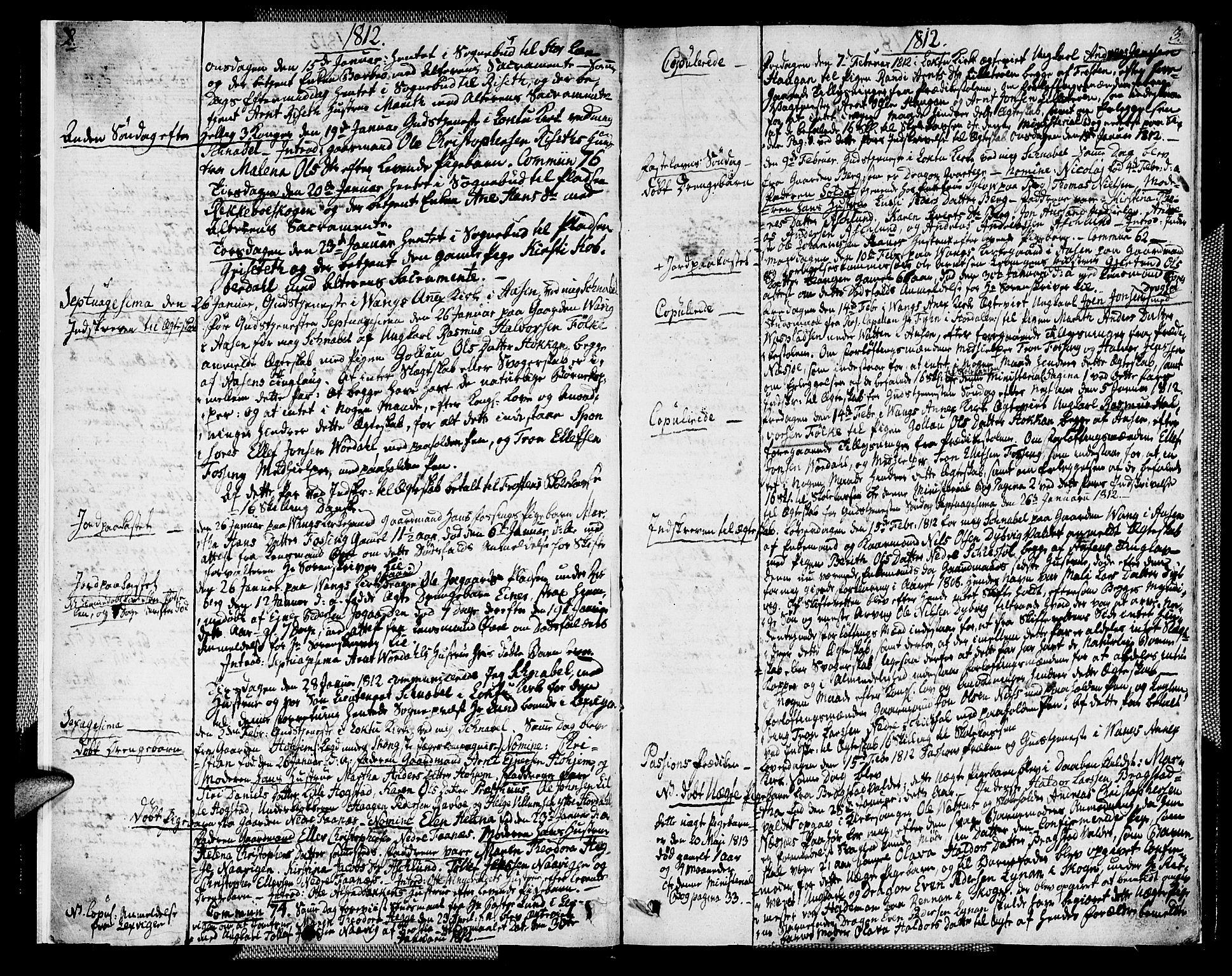 SAT, Ministerialprotokoller, klokkerbøker og fødselsregistre - Nord-Trøndelag, 713/L0111: Ministerialbok nr. 713A03, 1812-1816, s. 2-3