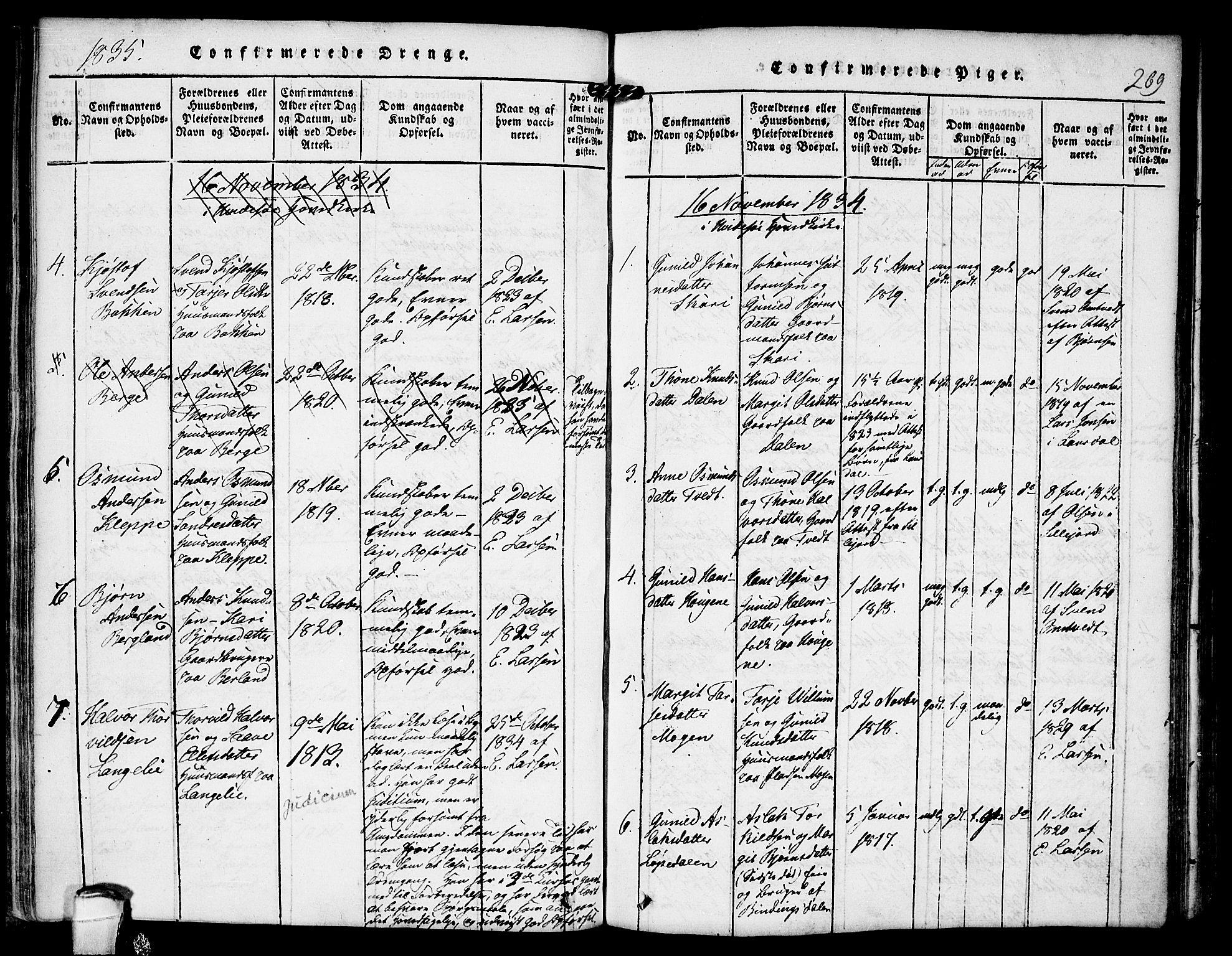 SAKO, Kviteseid kirkebøker, F/Fb/L0001: Ministerialbok nr. II 1, 1815-1836, s. 269
