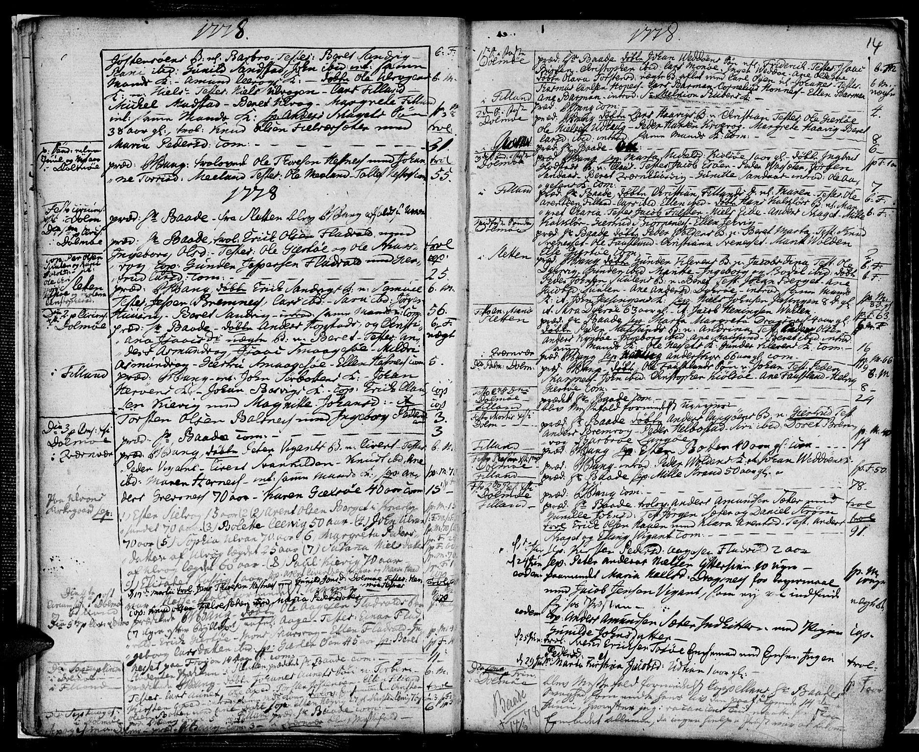 SAT, Ministerialprotokoller, klokkerbøker og fødselsregistre - Sør-Trøndelag, 634/L0526: Ministerialbok nr. 634A02, 1775-1818, s. 14