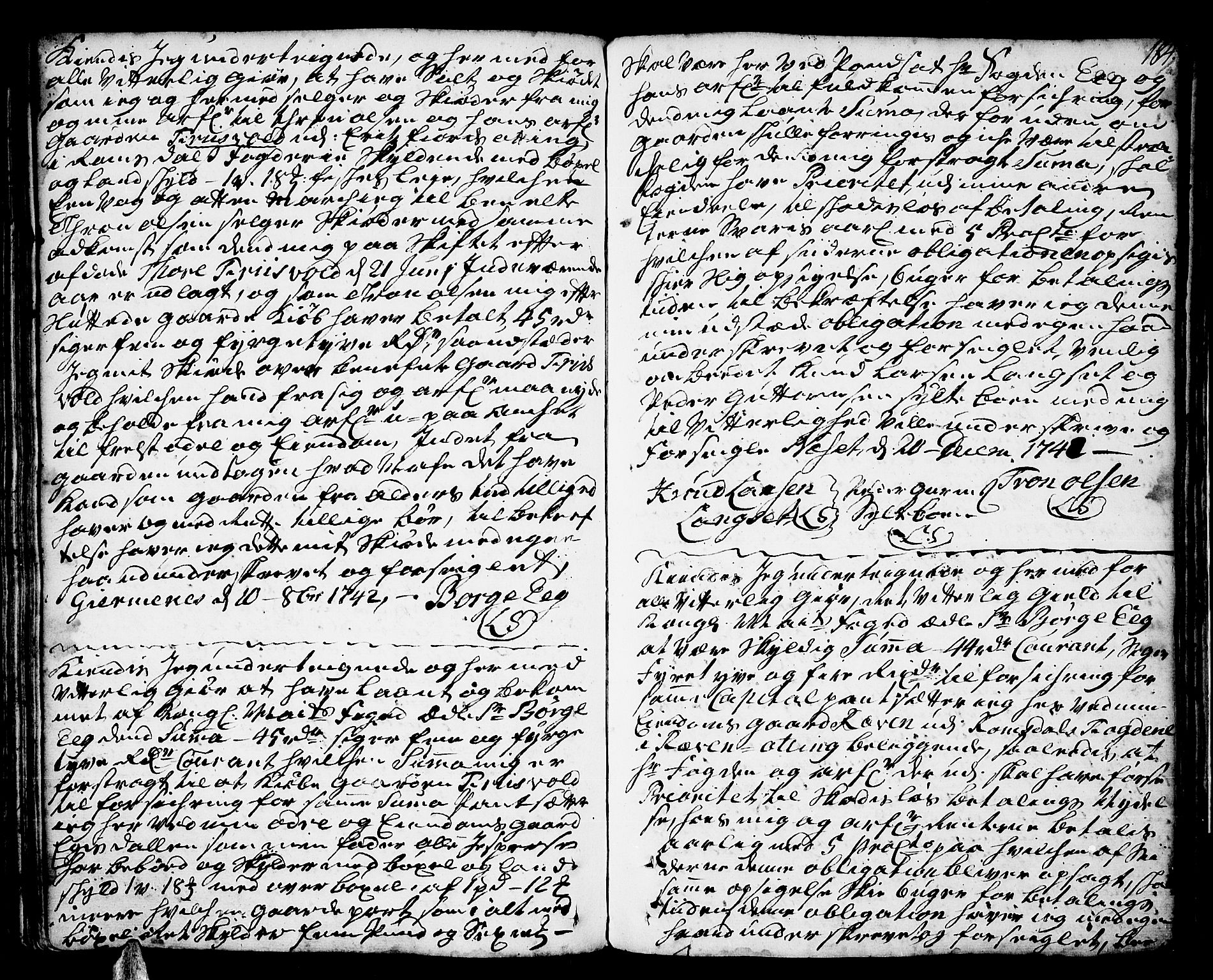 SAT, Romsdal sorenskriveri, 2/2C/L0002: Pantebok nr. 2, 1731-1745, s. 184