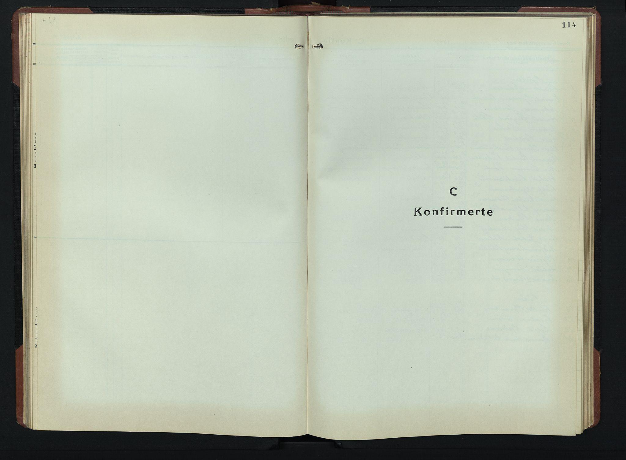 SAH, Vardal prestekontor, H/Ha/Hab/L0019: Klokkerbok nr. 19, 1941-1951, s. 114