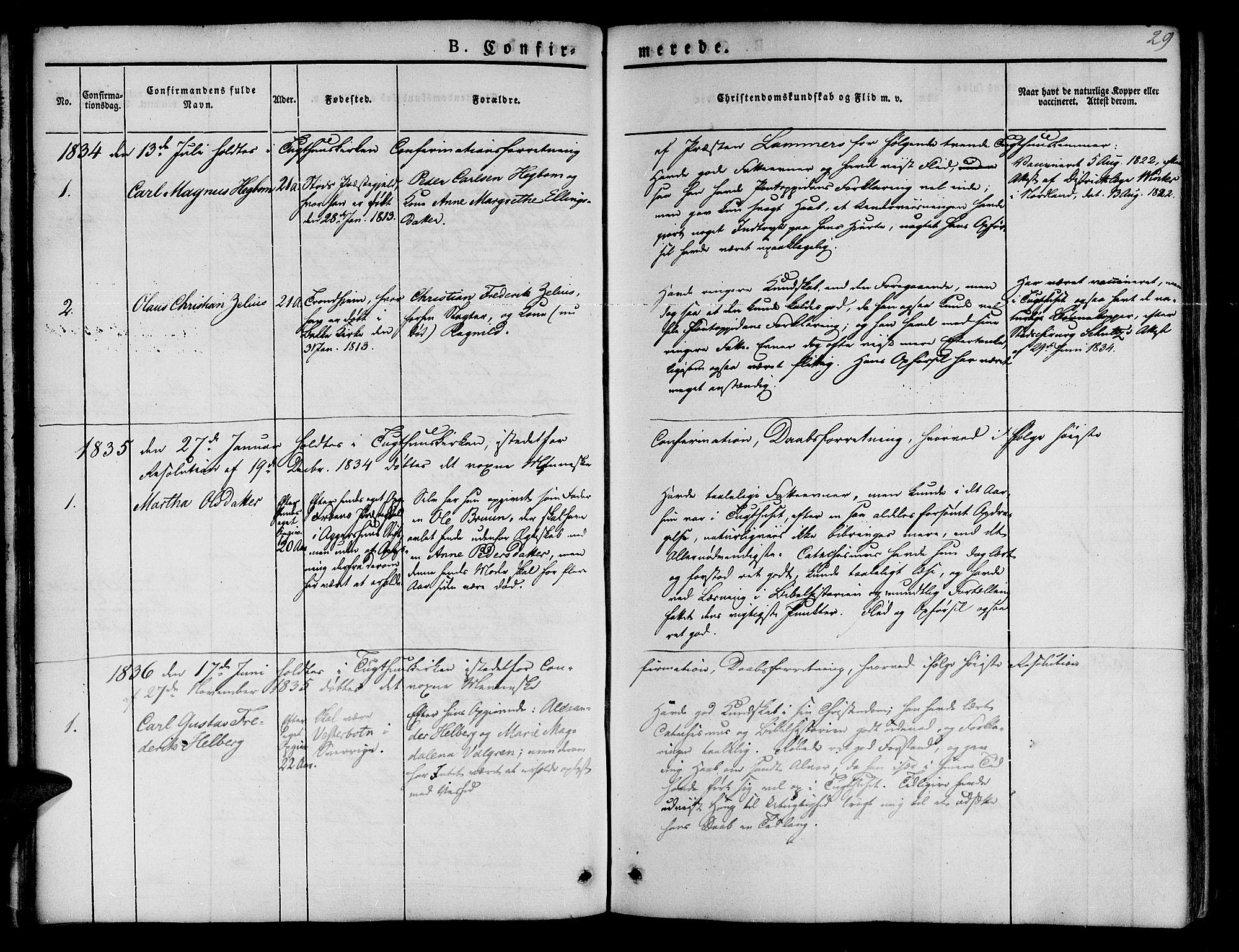 SAT, Ministerialprotokoller, klokkerbøker og fødselsregistre - Sør-Trøndelag, 623/L0468: Ministerialbok nr. 623A02, 1826-1867, s. 29