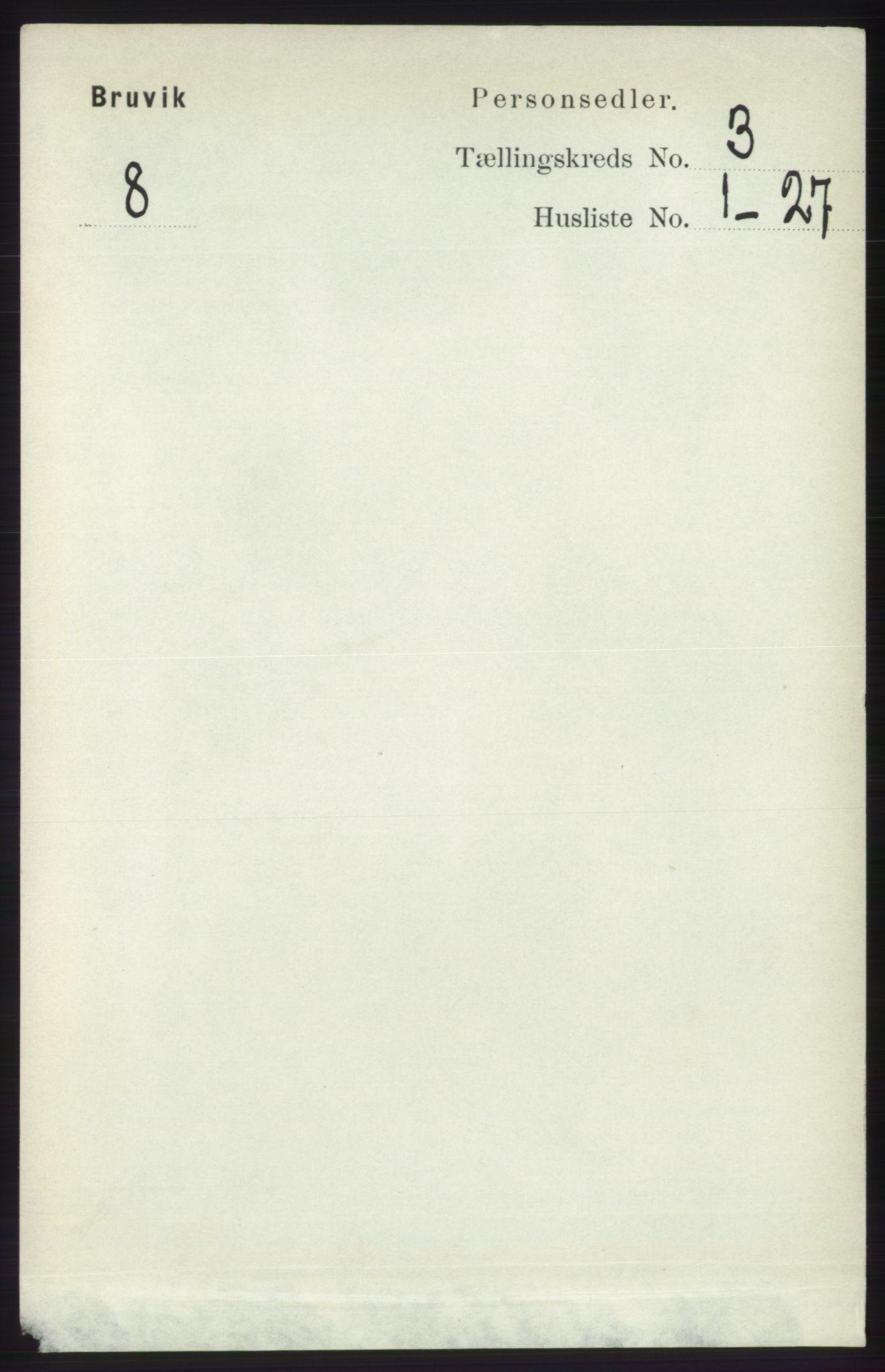 RA, Folketelling 1891 for 1251 Bruvik herred, 1891, s. 823