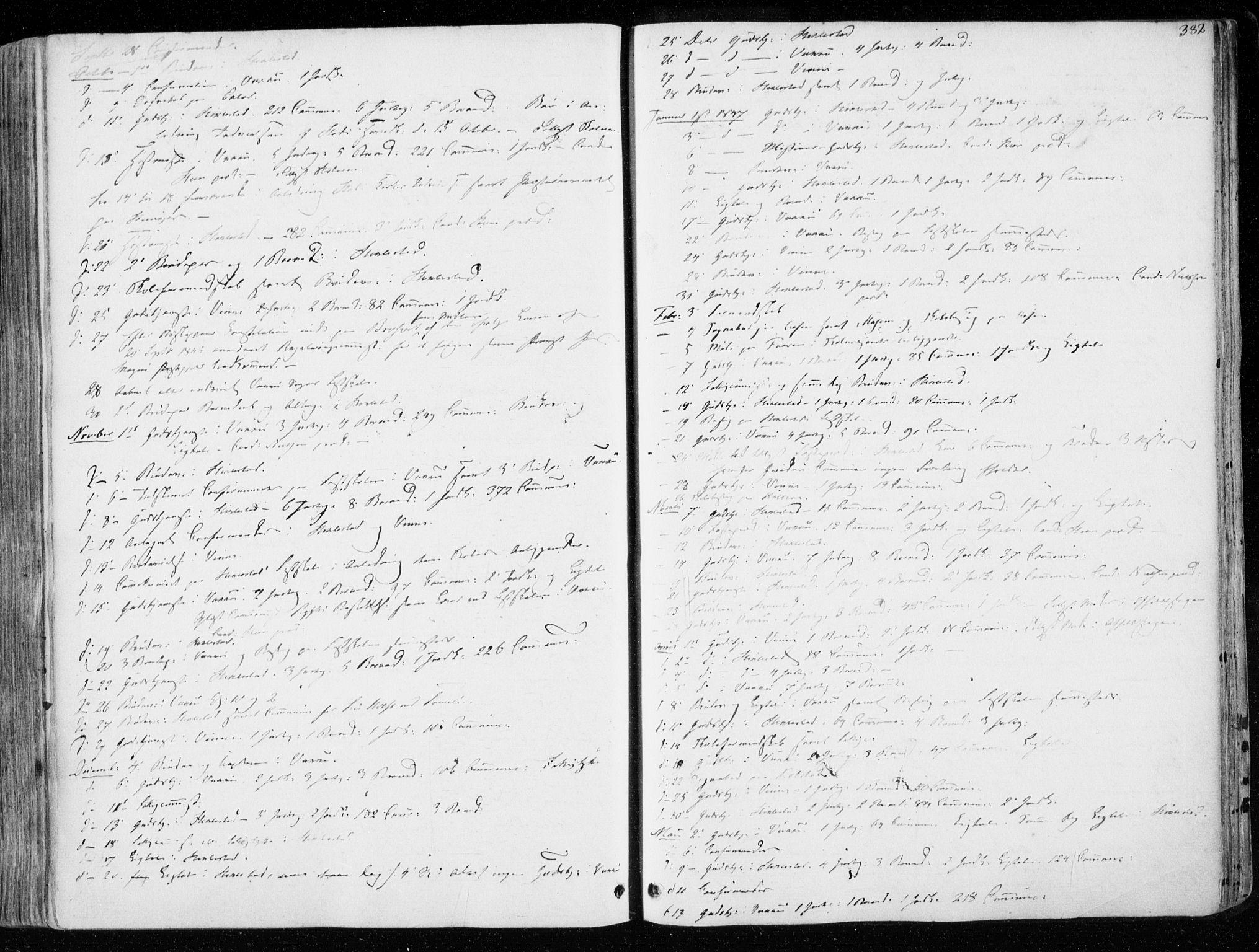 SAT, Ministerialprotokoller, klokkerbøker og fødselsregistre - Nord-Trøndelag, 723/L0239: Ministerialbok nr. 723A08, 1841-1851, s. 382