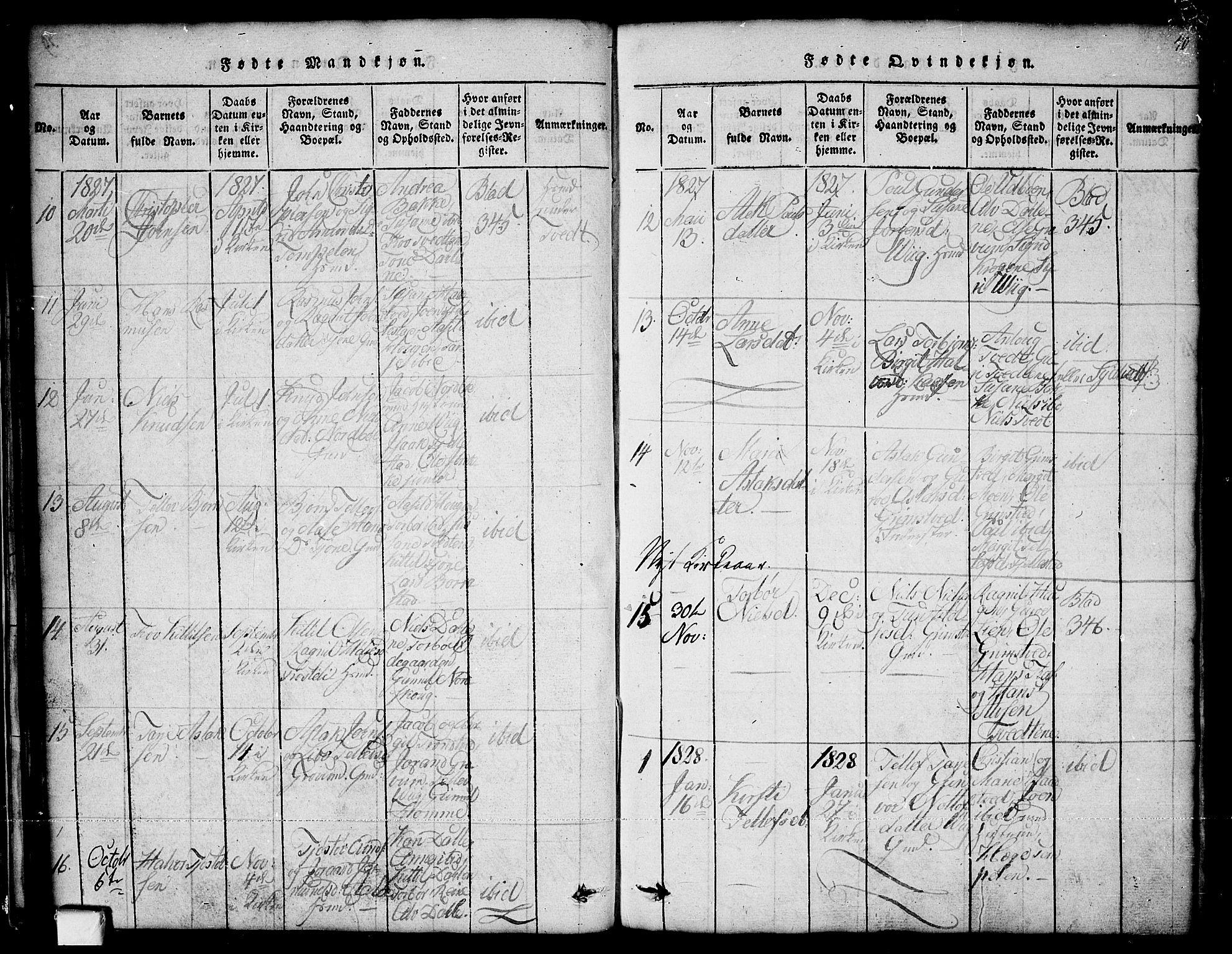 SAKO, Nissedal kirkebøker, G/Ga/L0001: Klokkerbok nr. I 1, 1814-1860, s. 40