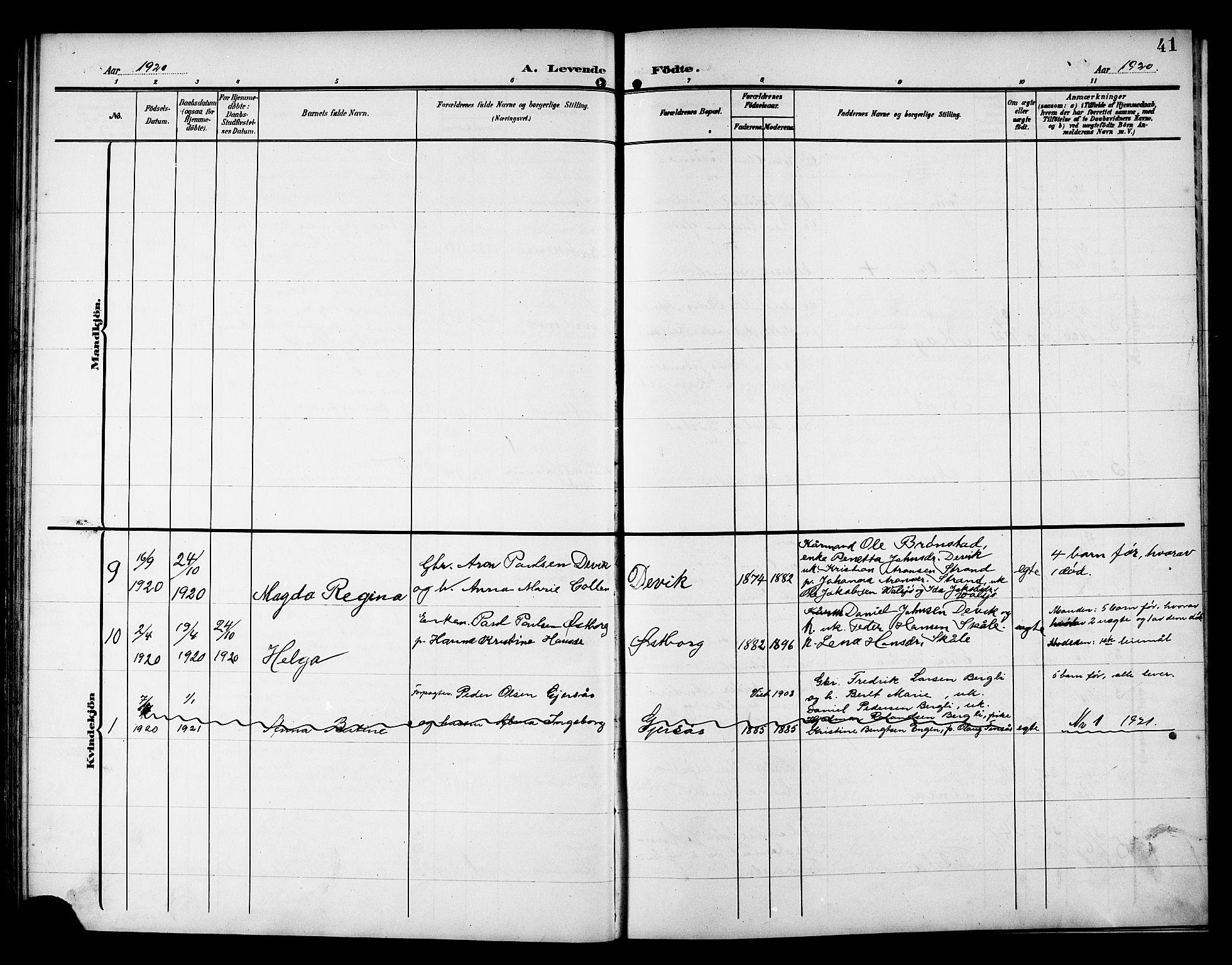 SAT, Ministerialprotokoller, klokkerbøker og fødselsregistre - Nord-Trøndelag, 757/L0506: Klokkerbok nr. 757C01, 1904-1922, s. 41