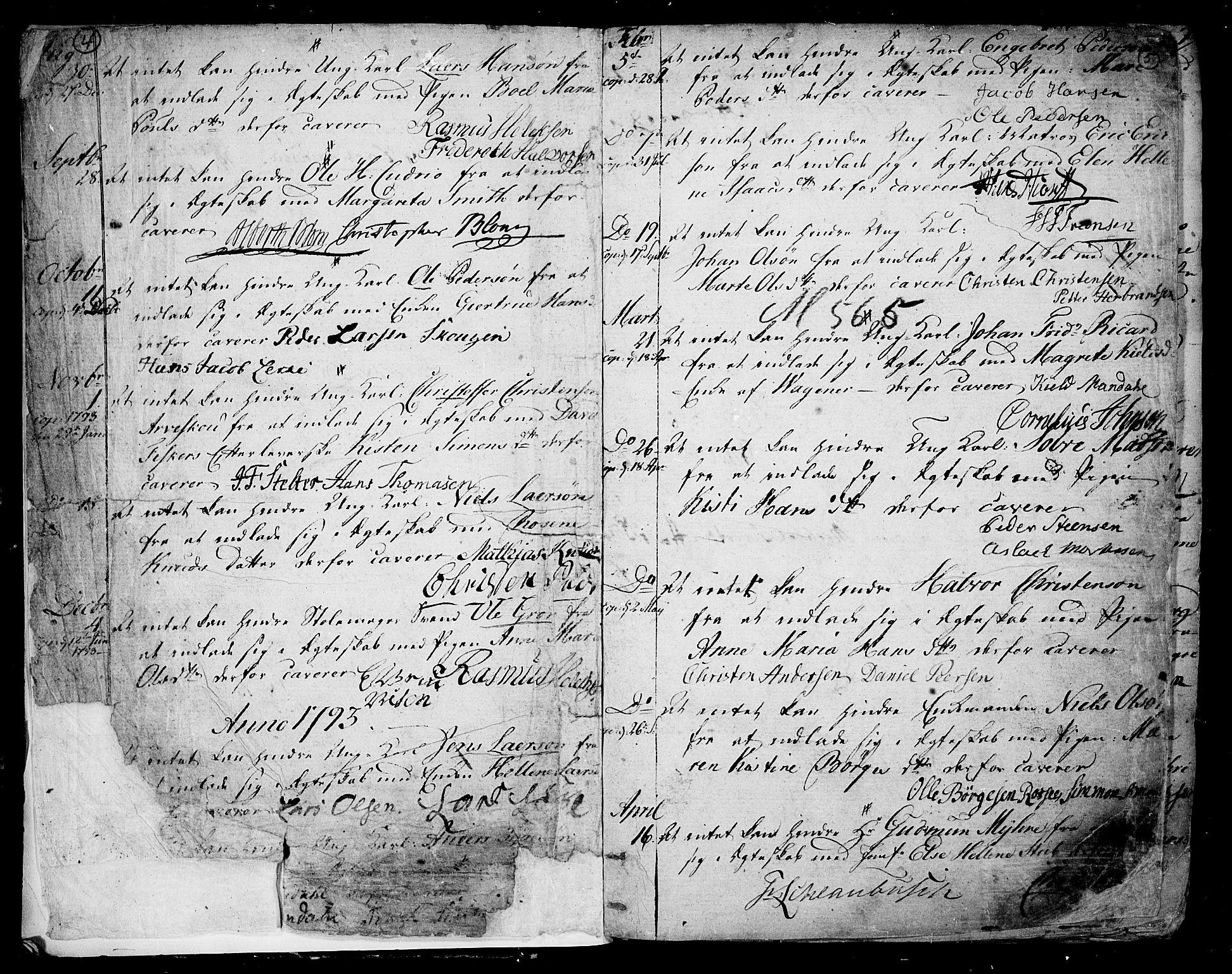 SAKO, Skien kirkebøker, F/Fa/L0004: Ministerialbok nr. 4, 1792-1814, s. 4-5