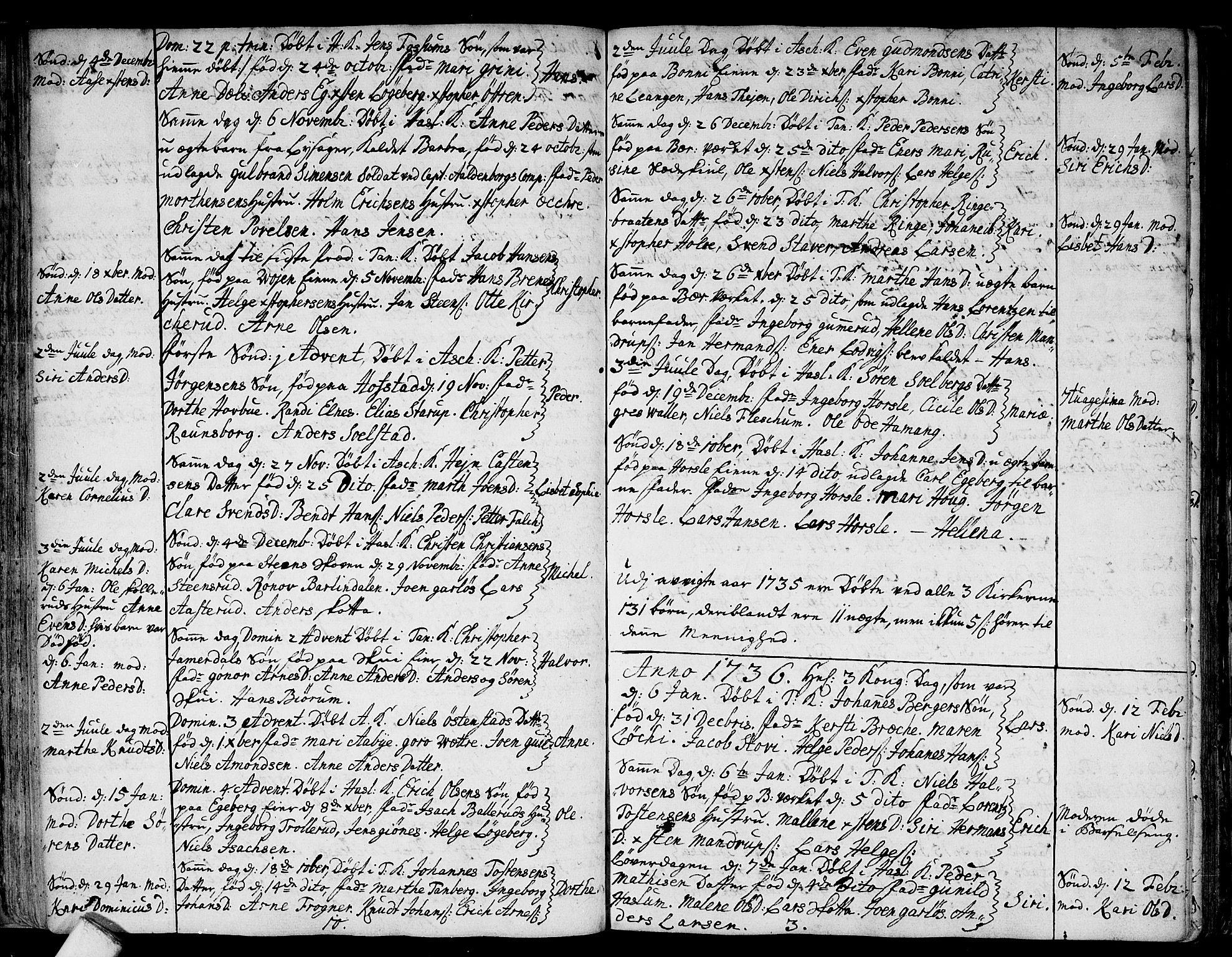 SAO, Asker prestekontor Kirkebøker, F/Fa/L0001: Ministerialbok nr. I 1, 1726-1744, s. 40