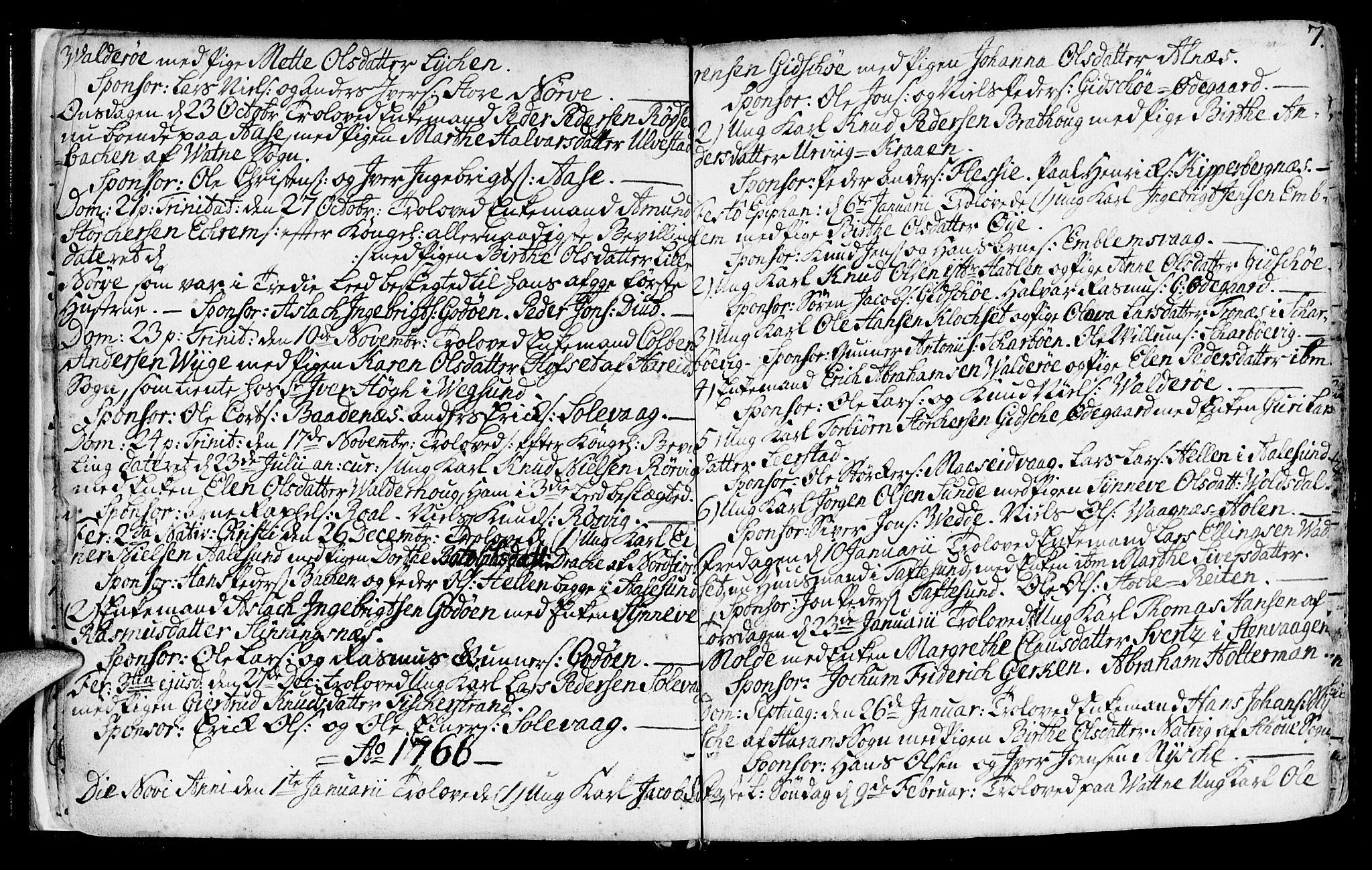 SAT, Ministerialprotokoller, klokkerbøker og fødselsregistre - Møre og Romsdal, 528/L0392: Ministerialbok nr. 528A03, 1762-1800, s. 7