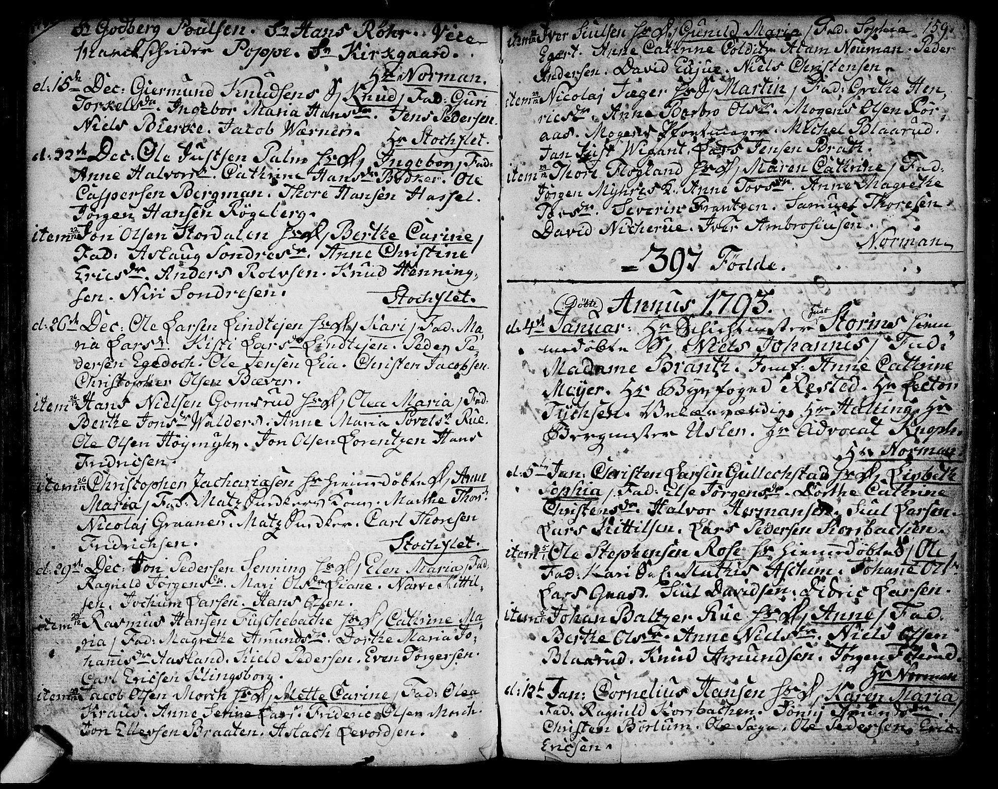 SAKO, Kongsberg kirkebøker, F/Fa/L0006: Ministerialbok nr. I 6, 1783-1797, s. 159