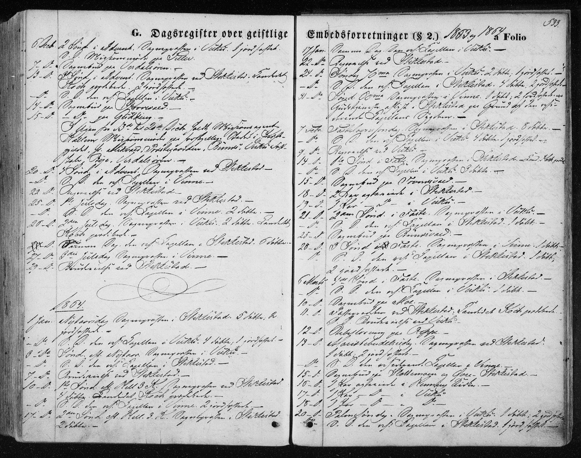 SAT, Ministerialprotokoller, klokkerbøker og fødselsregistre - Nord-Trøndelag, 723/L0241: Ministerialbok nr. 723A10, 1860-1869, s. 533