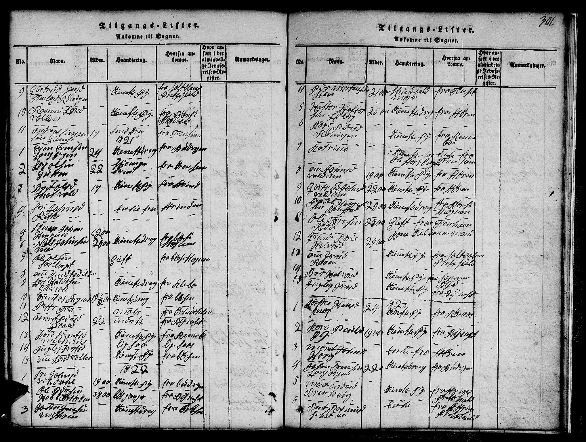 SAT, Ministerialprotokoller, klokkerbøker og fødselsregistre - Sør-Trøndelag, 691/L1092: Klokkerbok nr. 691C03, 1816-1852, s. 301
