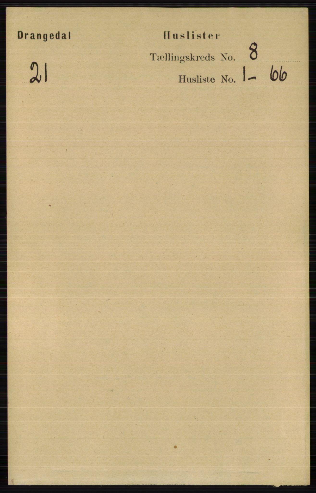 RA, Folketelling 1891 for 0817 Drangedal herred, 1891, s. 2574