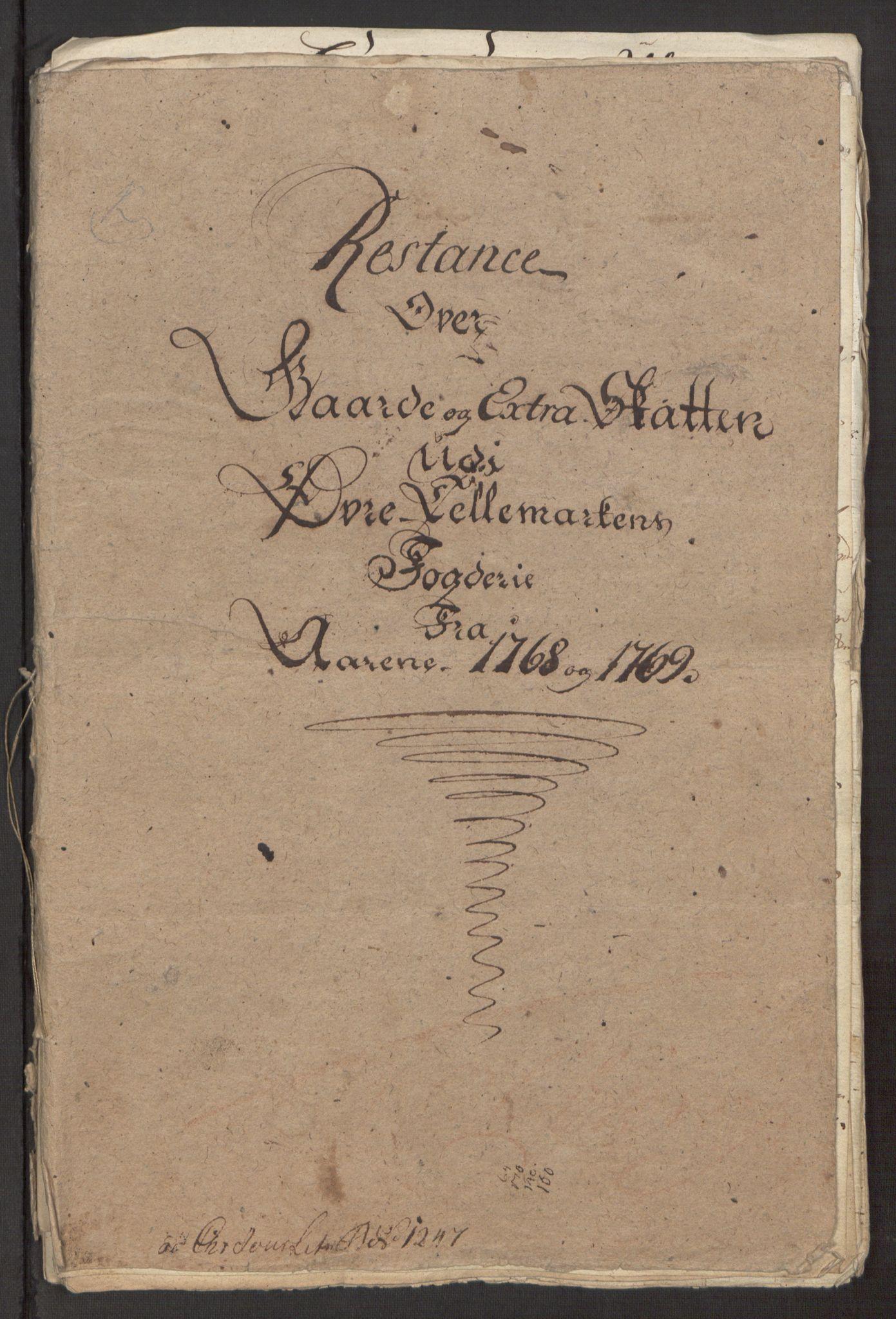 RA, Rentekammeret inntil 1814, Reviderte regnskaper, Fogderegnskap, R38/L2293: Ekstraskatten Øvre Telemark, 1762-1770, s. 362
