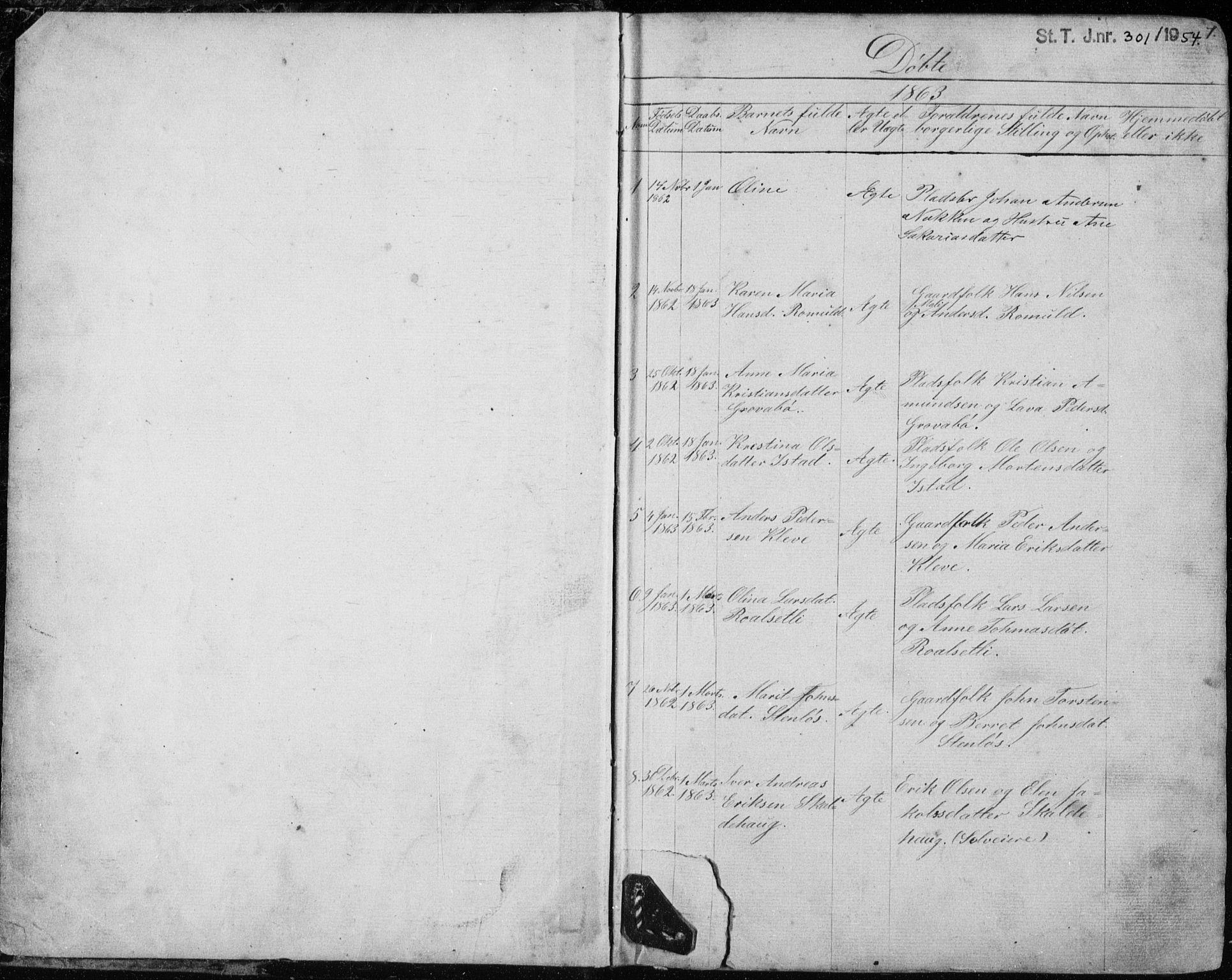 SAT, Ministerialprotokoller, klokkerbøker og fødselsregistre - Møre og Romsdal, 557/L0684: Klokkerbok nr. 557C02, 1863-1944, s. 1