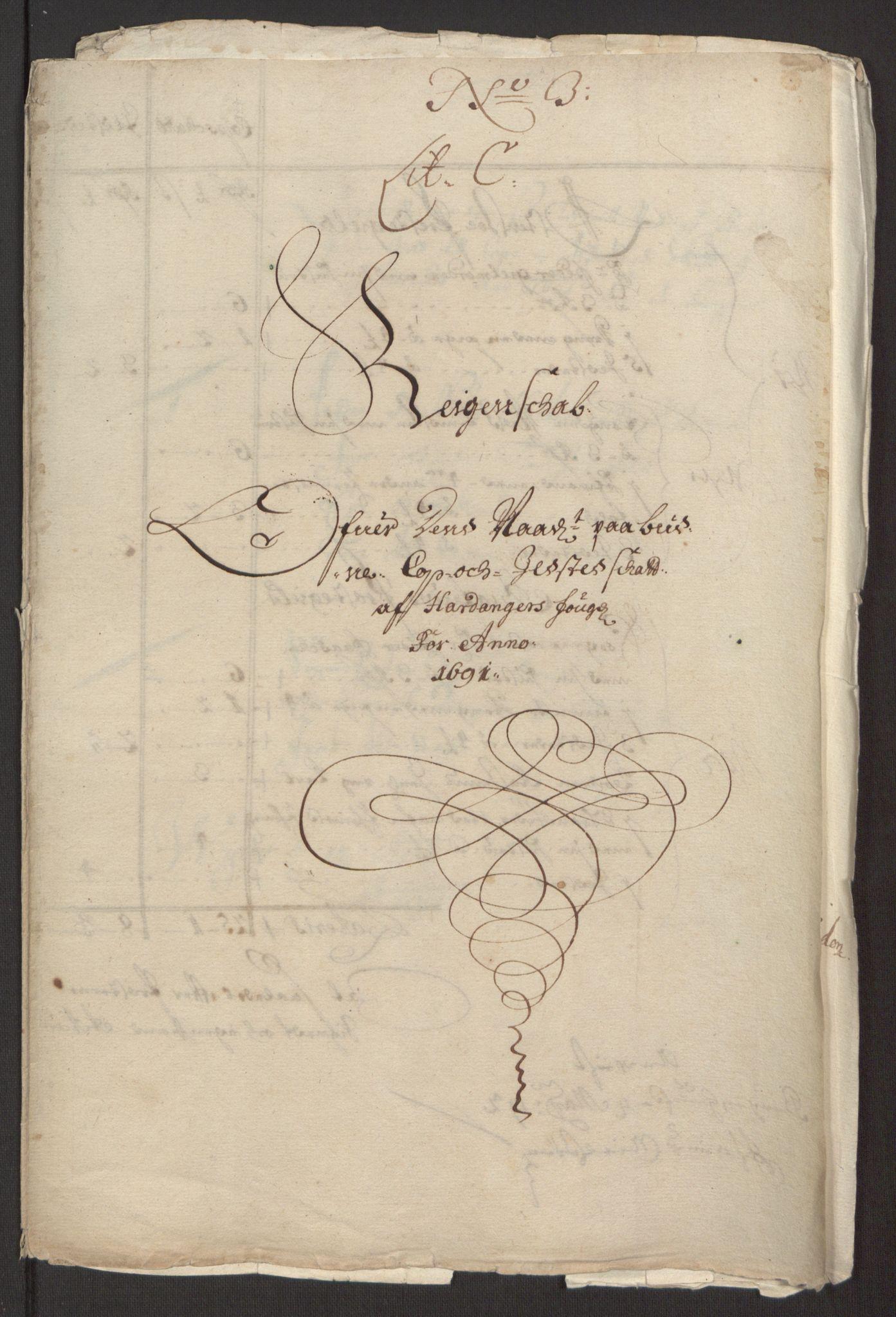 RA, Rentekammeret inntil 1814, Reviderte regnskaper, Fogderegnskap, R48/L2973: Fogderegnskap Sunnhordland og Hardanger, 1691-1692, s. 295