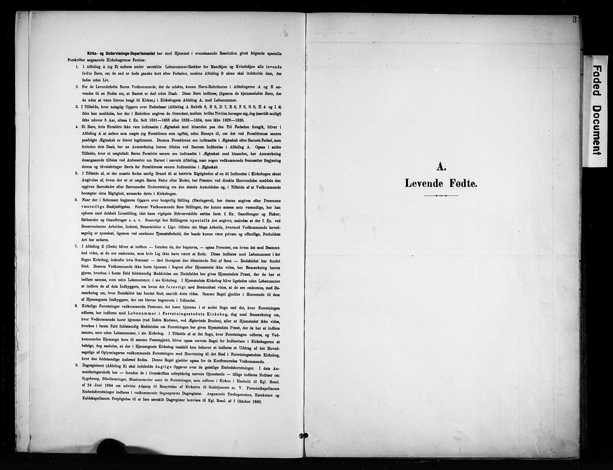 SAH, Brandbu prestekontor, Ministerialbok nr. 1, 1900-1912, s. 3