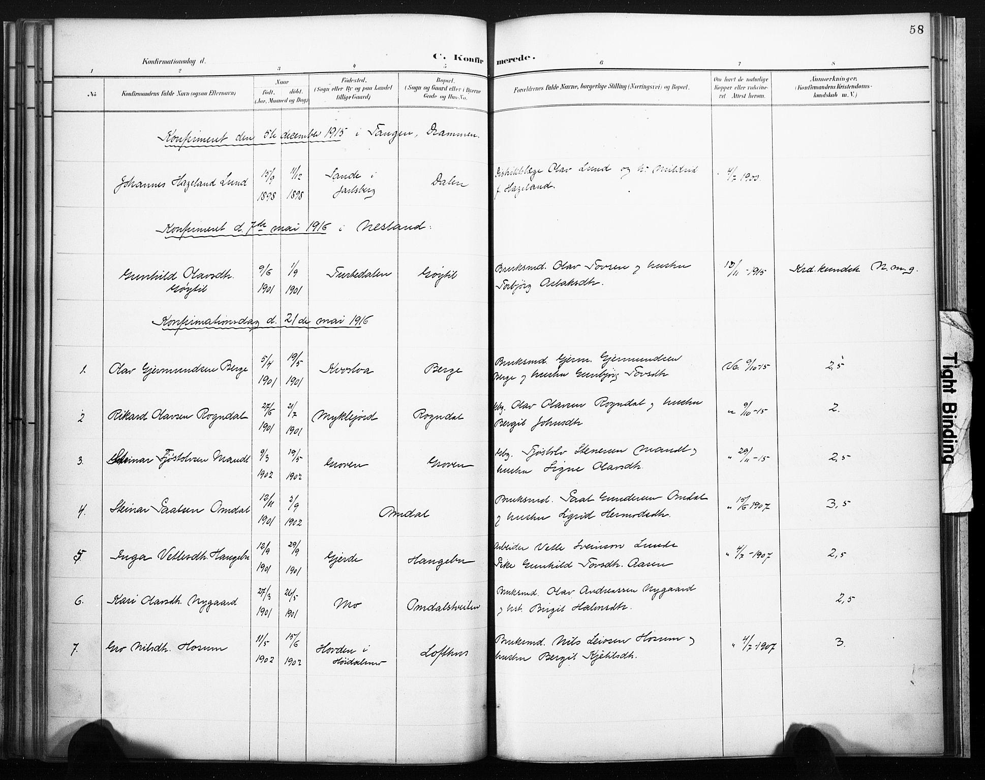 SAKO, Lårdal kirkebøker, F/Fb/L0002: Ministerialbok nr. II 2, 1887-1918, s. 58