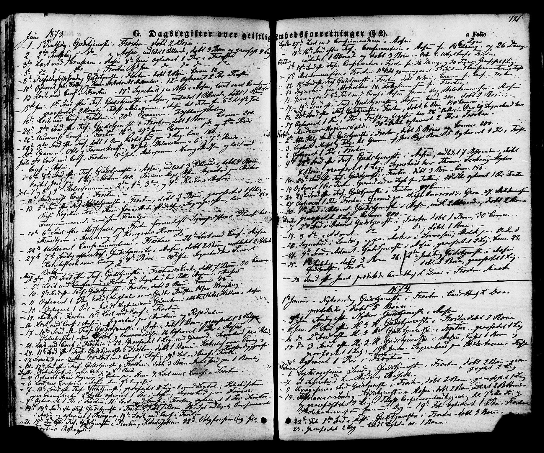 SAT, Ministerialprotokoller, klokkerbøker og fødselsregistre - Nord-Trøndelag, 713/L0116: Ministerialbok nr. 713A07 /1, 1850-1877, s. 721