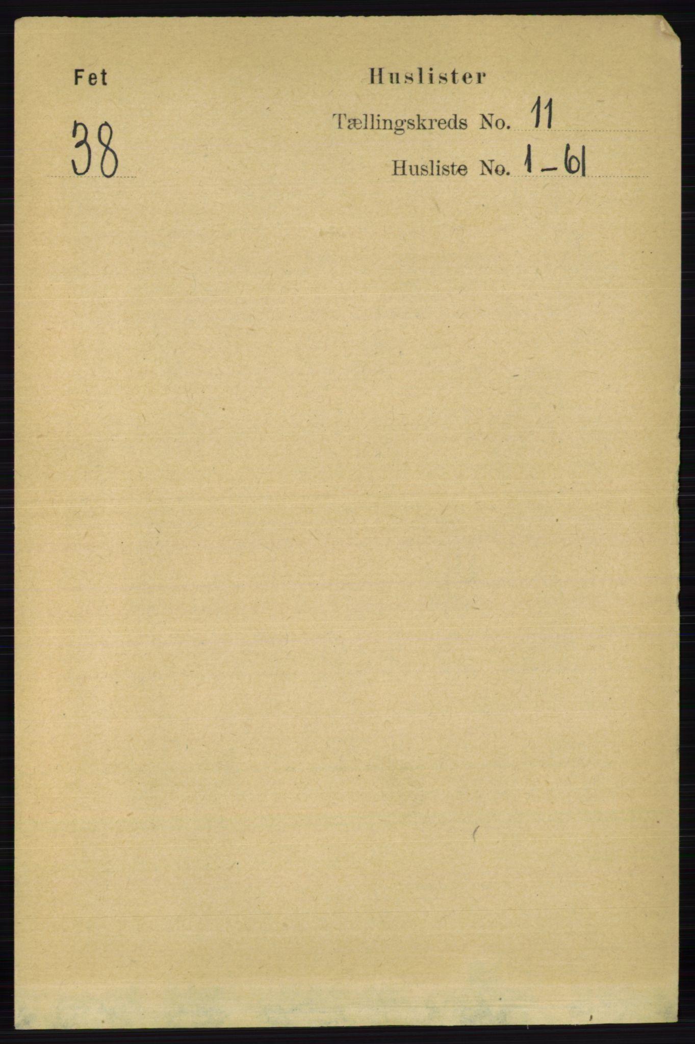 RA, Folketelling 1891 for 0227 Fet herred, 1891, s. 4194