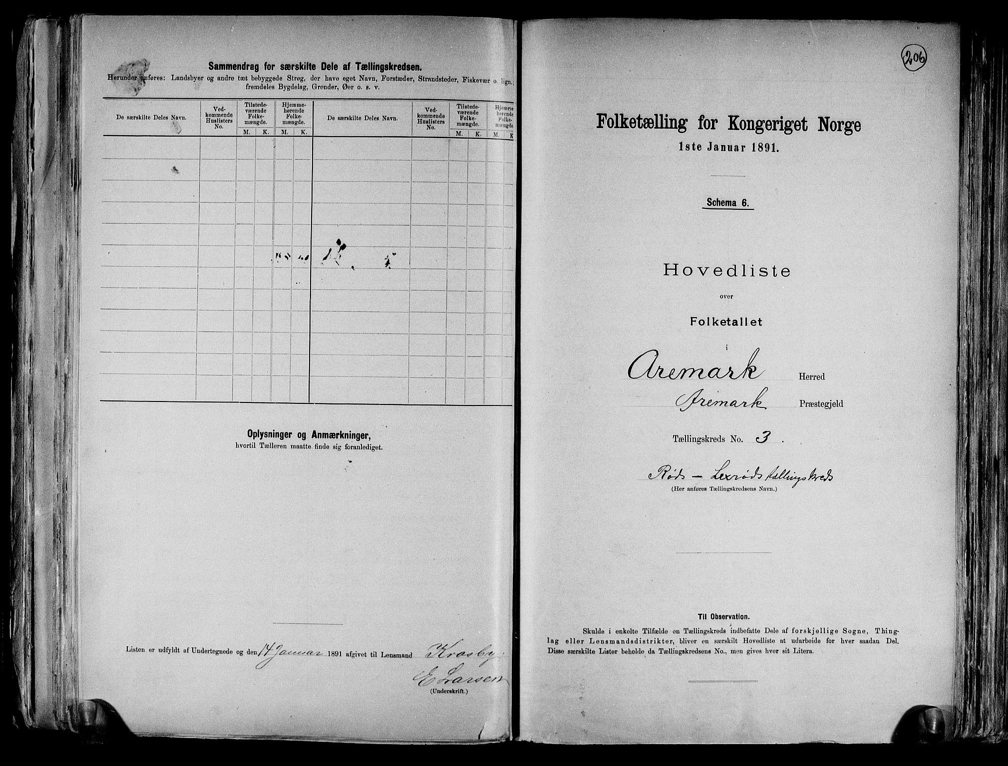RA, Folketelling 1891 for 0118 Aremark herred, 1891, s. 10