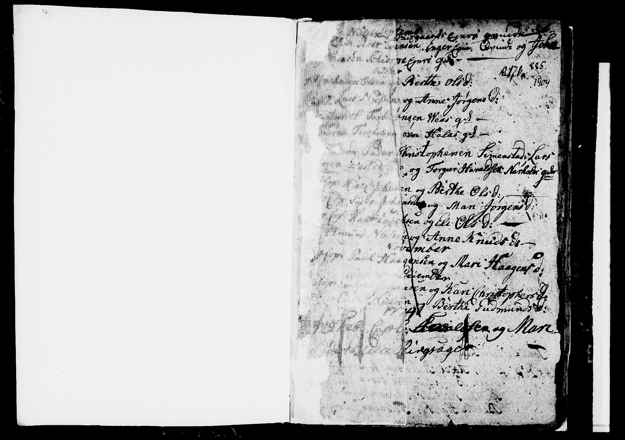 SAH, Ringsaker prestekontor, I/Ia/L0005/0001: Kladd til kirkebok nr. 1A, 1773-1775, s. 0-1
