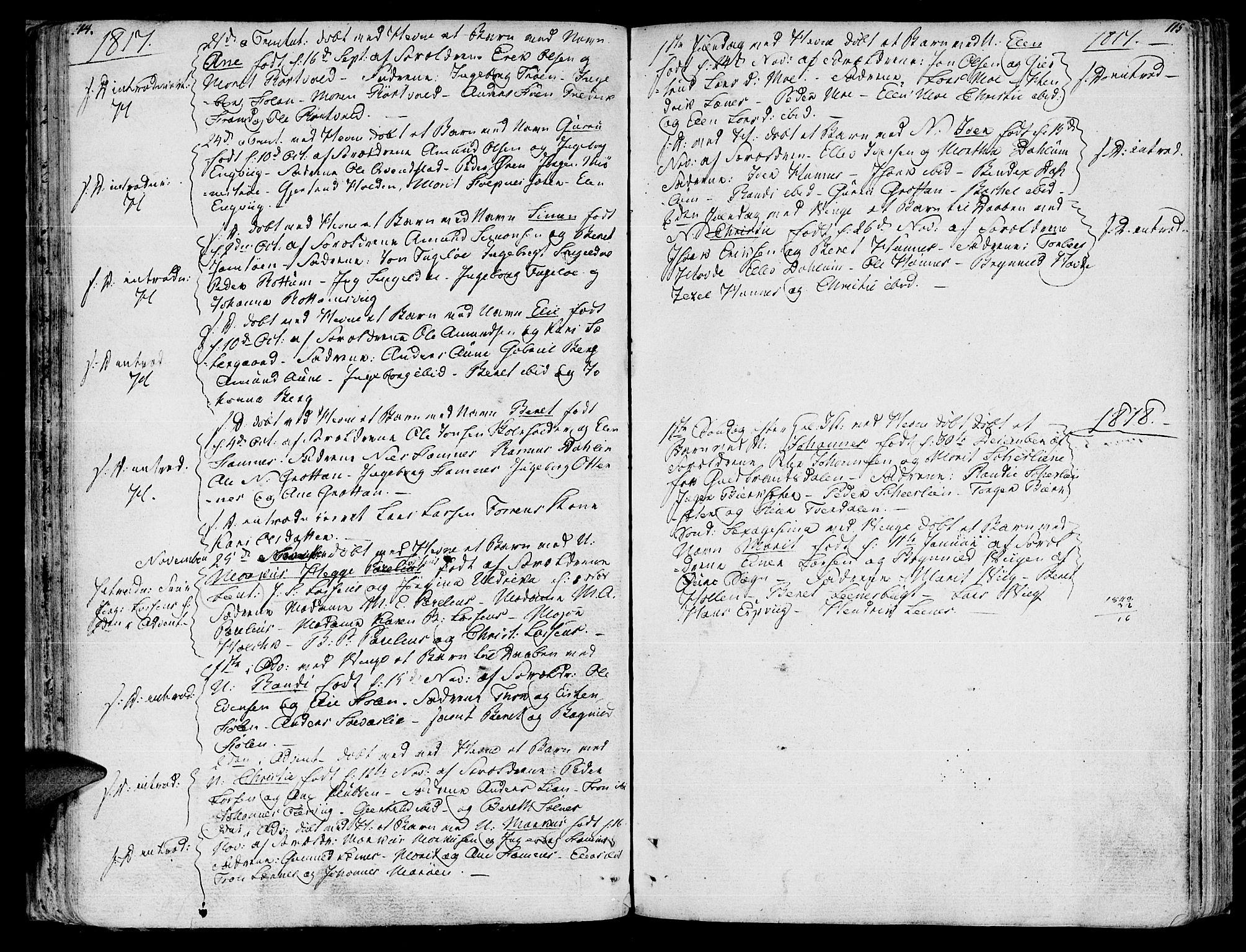 SAT, Ministerialprotokoller, klokkerbøker og fødselsregistre - Sør-Trøndelag, 630/L0490: Ministerialbok nr. 630A03, 1795-1818, s. 114-115