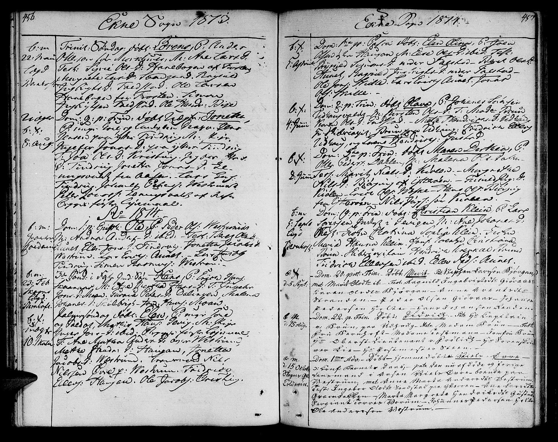 SAT, Ministerialprotokoller, klokkerbøker og fødselsregistre - Nord-Trøndelag, 717/L0145: Ministerialbok nr. 717A03 /2, 1810-1815, s. 456-457