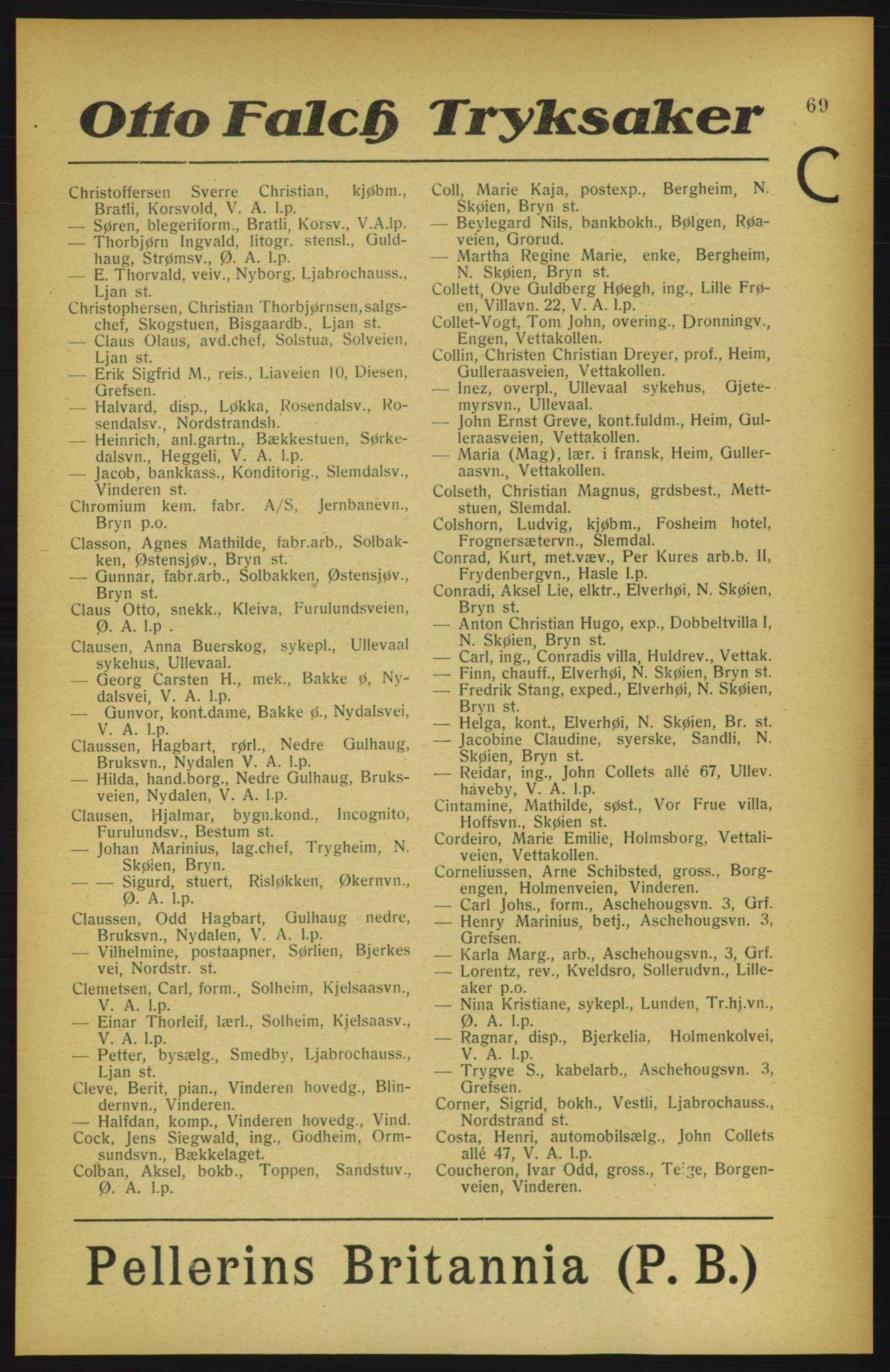 PUBL, Aker adressebok/adressekalender, 1922, s. 69