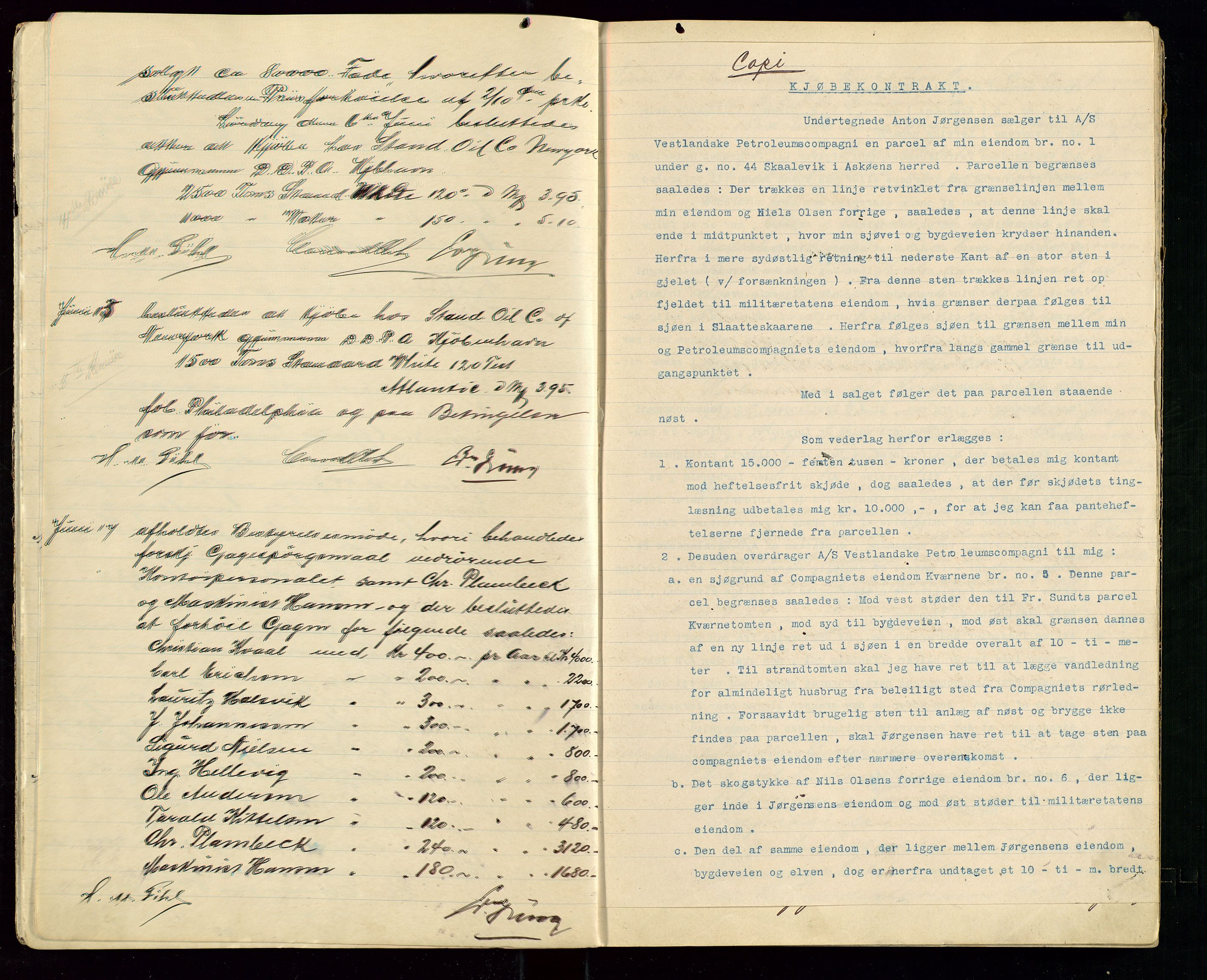 SAST, PA 1533 - A/S Vestlandske Petroleumscompani, A/Aa/L0001: Generalforsamlinger og styreprotokoller, 1907-1915, s. 7