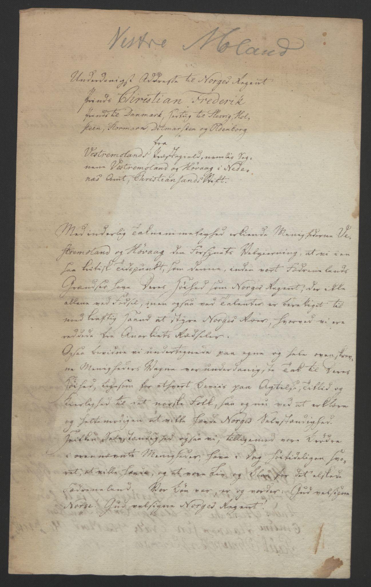 RA, Statsrådssekretariatet, D/Db/L0008: Fullmakter for Eidsvollsrepresentantene i 1814. , 1814, s. 91