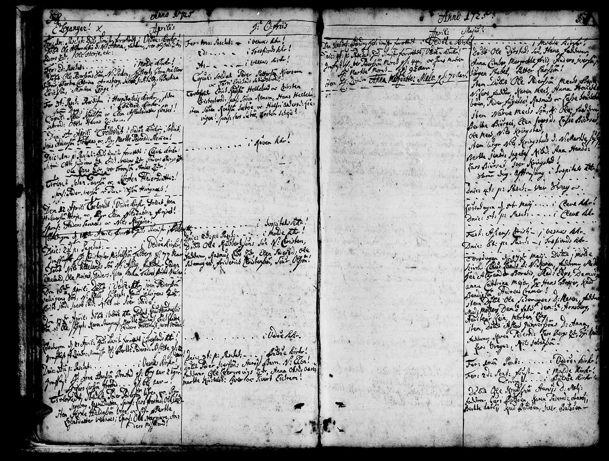 SAT, Ministerialprotokoller, klokkerbøker og fødselsregistre - Møre og Romsdal, 547/L0599: Ministerialbok nr. 547A01, 1721-1764, s. 60-61