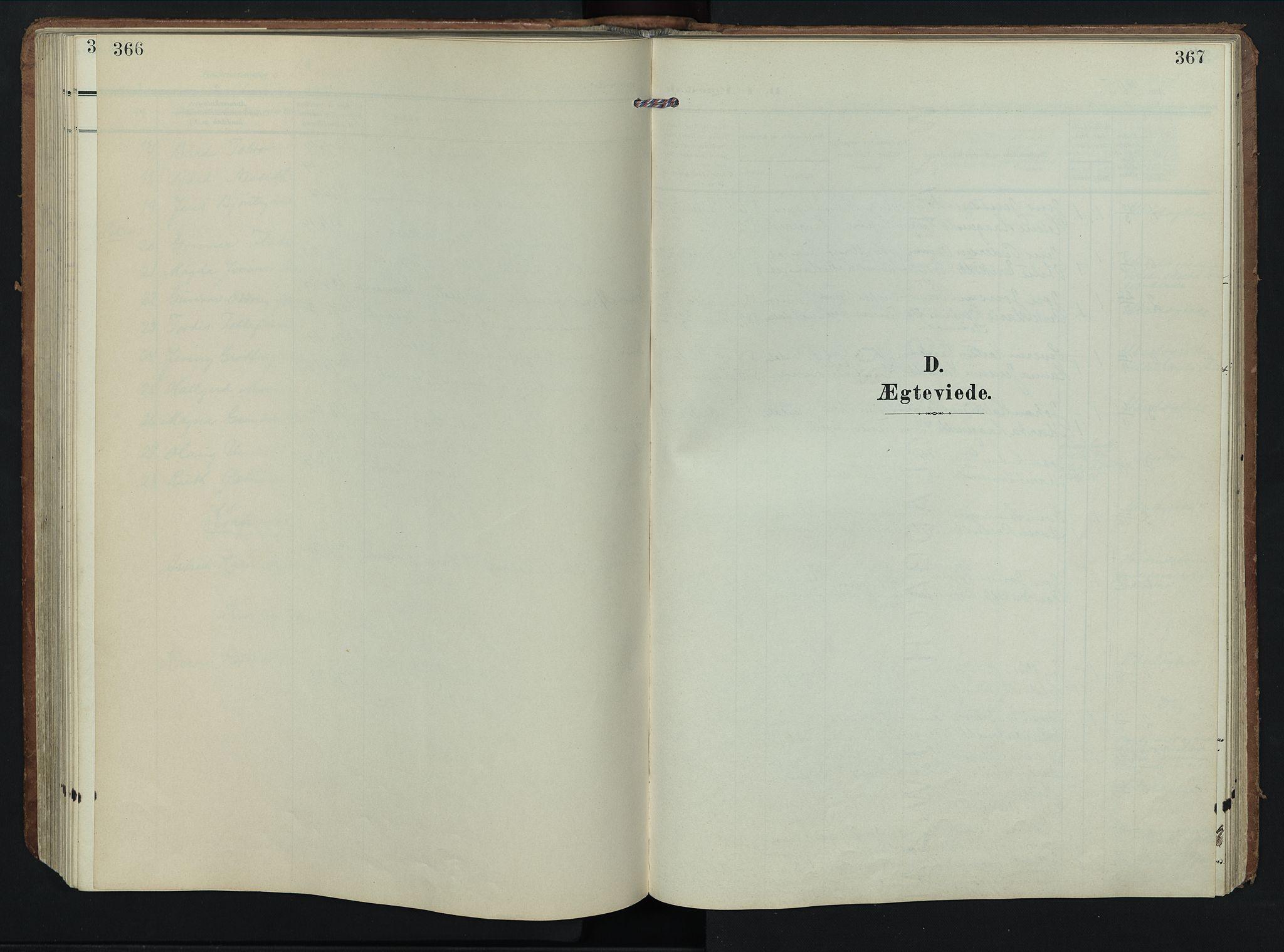 SAH, Rendalen prestekontor, H/Ha/Hab/L0004: Klokkerbok nr. 4, 1904-1946, s. 366-367