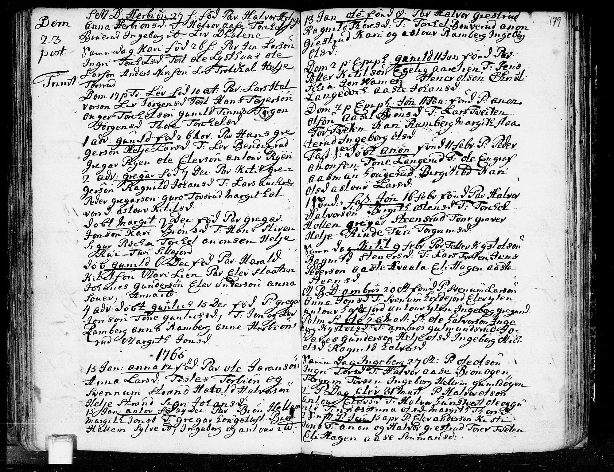 SAKO, Heddal kirkebøker, F/Fa/L0003: Ministerialbok nr. I 3, 1723-1783, s. 179