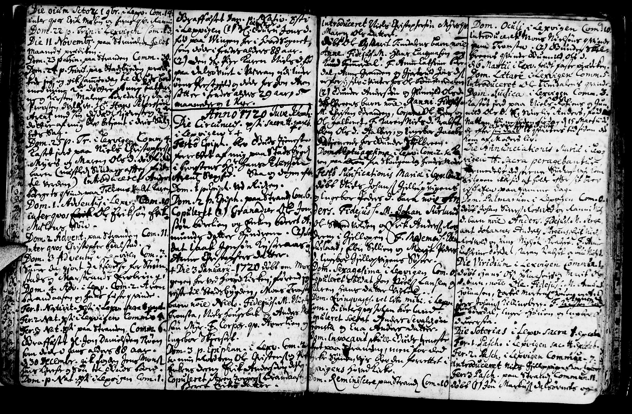 SAT, Ministerialprotokoller, klokkerbøker og fødselsregistre - Nord-Trøndelag, 701/L0001: Ministerialbok nr. 701A01, 1717-1731, s. 9