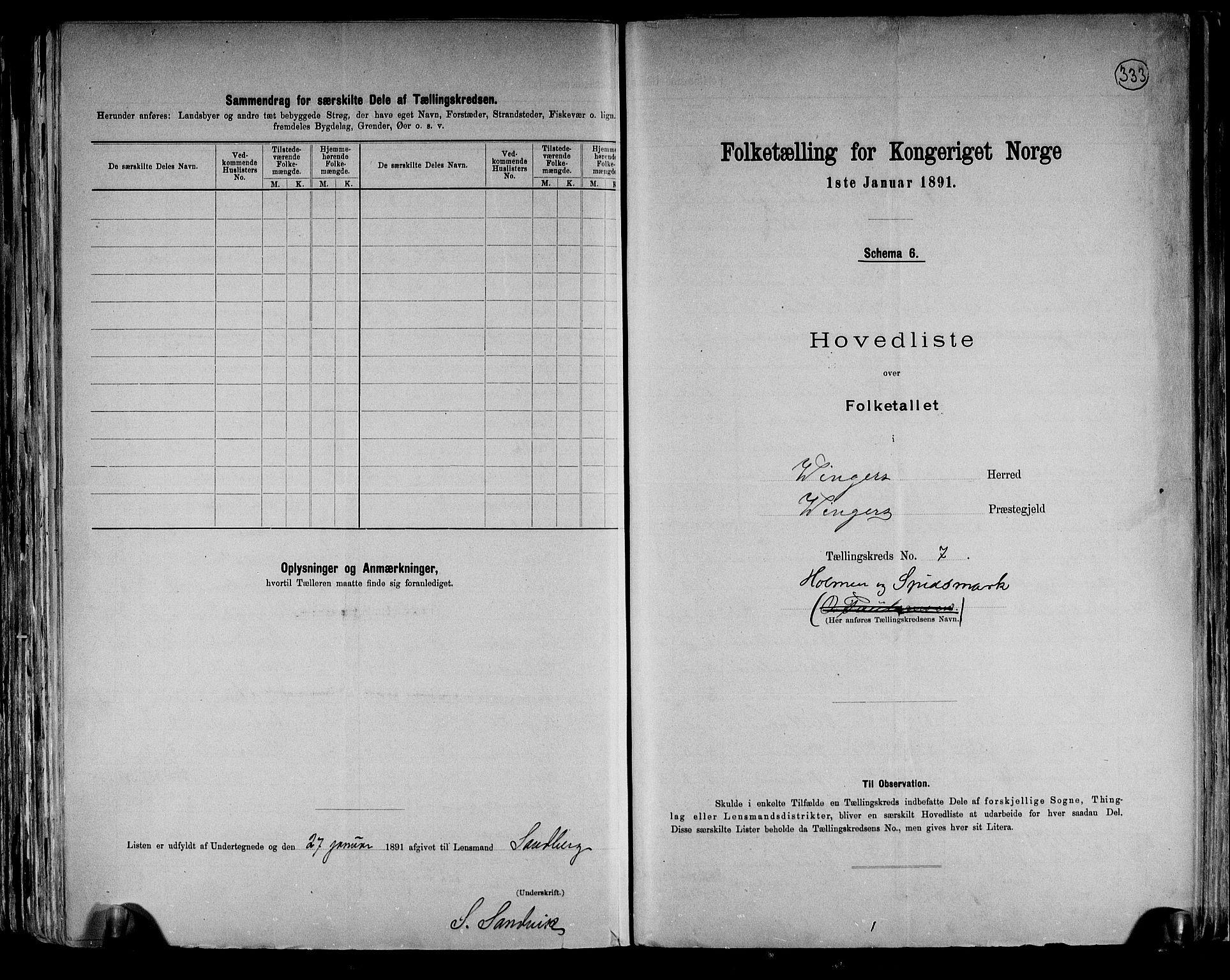 RA, Folketelling 1891 for 0421 Vinger herred, 1891, s. 16