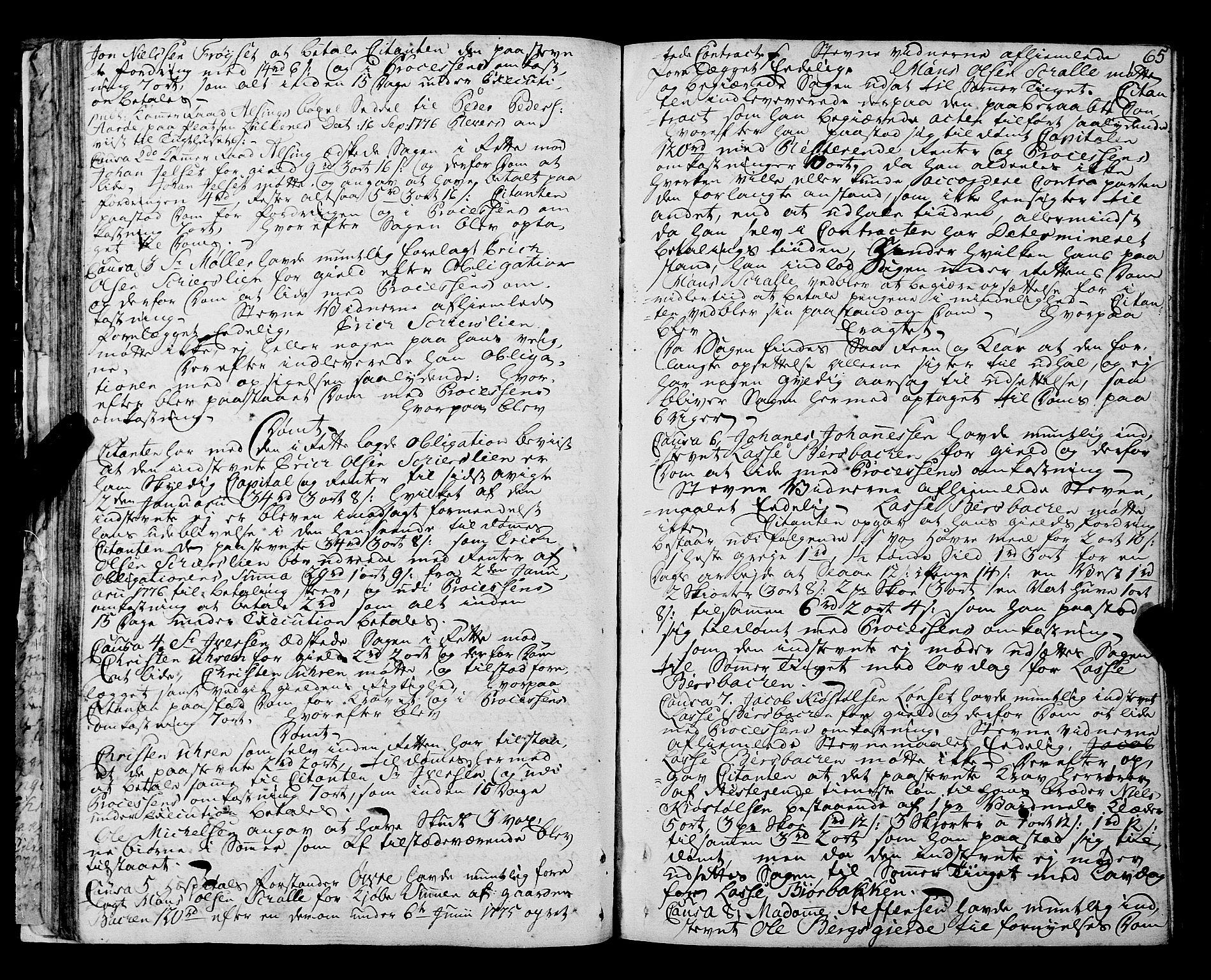 SAT, Romsdal sorenskriveri, 1/1A/L0016: Tingbok, 1775-1788, s. 64b-65a