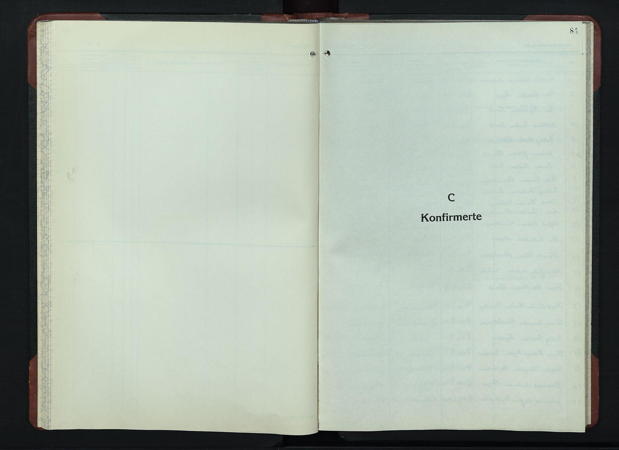 SAH, Sør-Fron prestekontor, H/Ha/Hab/L0006: Klokkerbok nr. 6, 1933-1948, s. 84