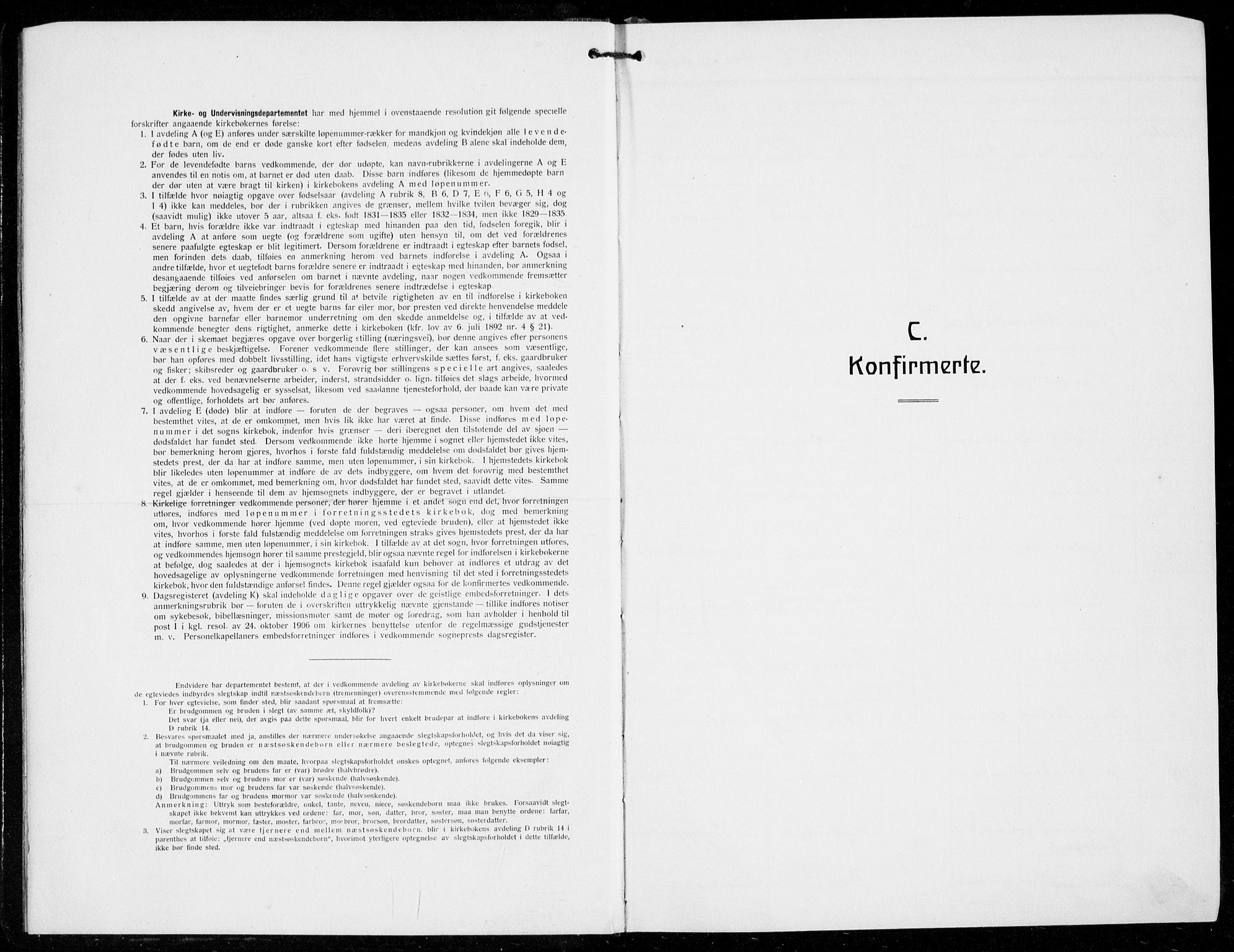 SAB, Domkirken Sokneprestembete, H/Hab/L0026: Klokkerbok nr. C 6, 1916-1933