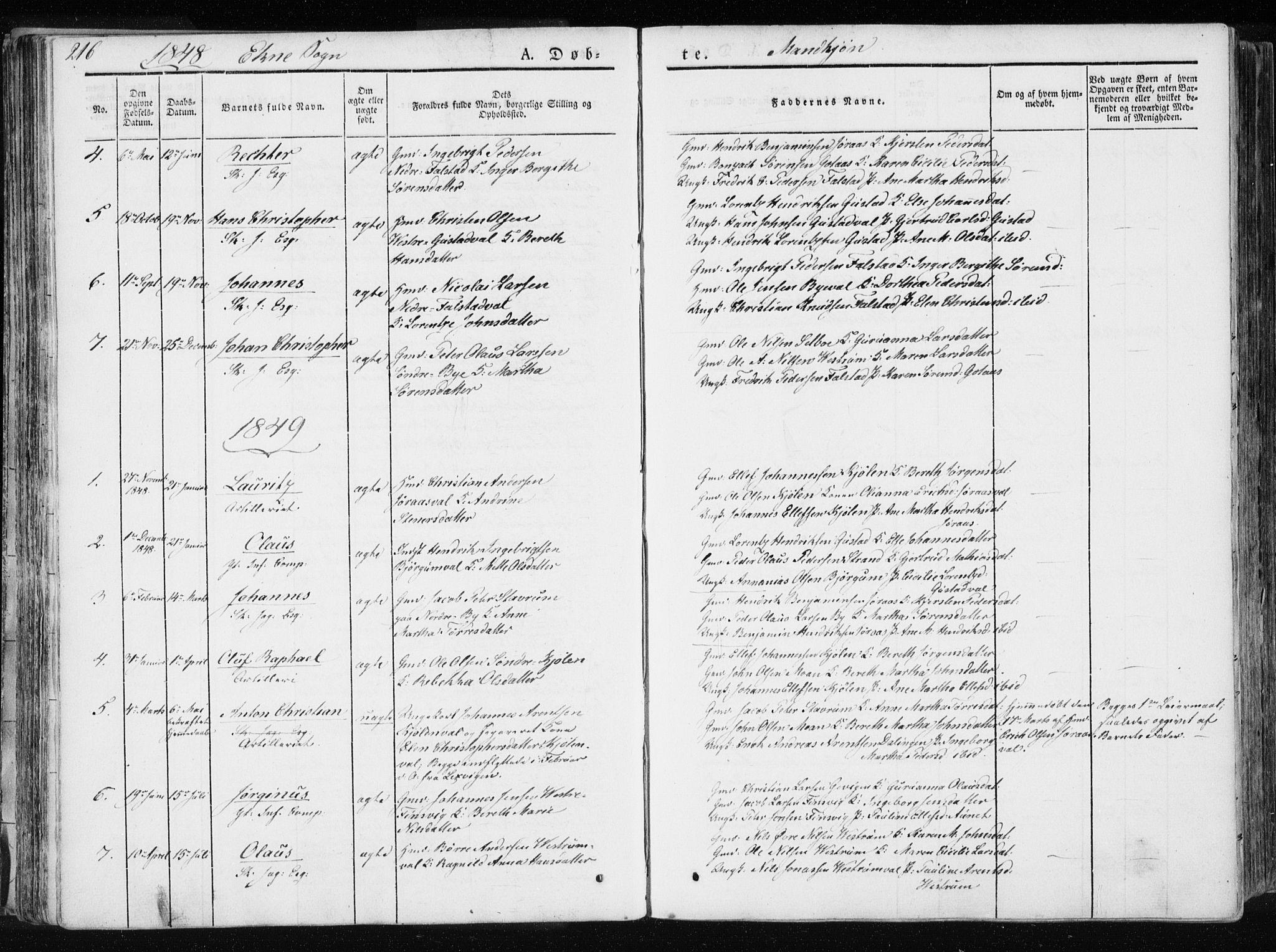 SAT, Ministerialprotokoller, klokkerbøker og fødselsregistre - Nord-Trøndelag, 717/L0154: Ministerialbok nr. 717A06 /2, 1836-1849, s. 216