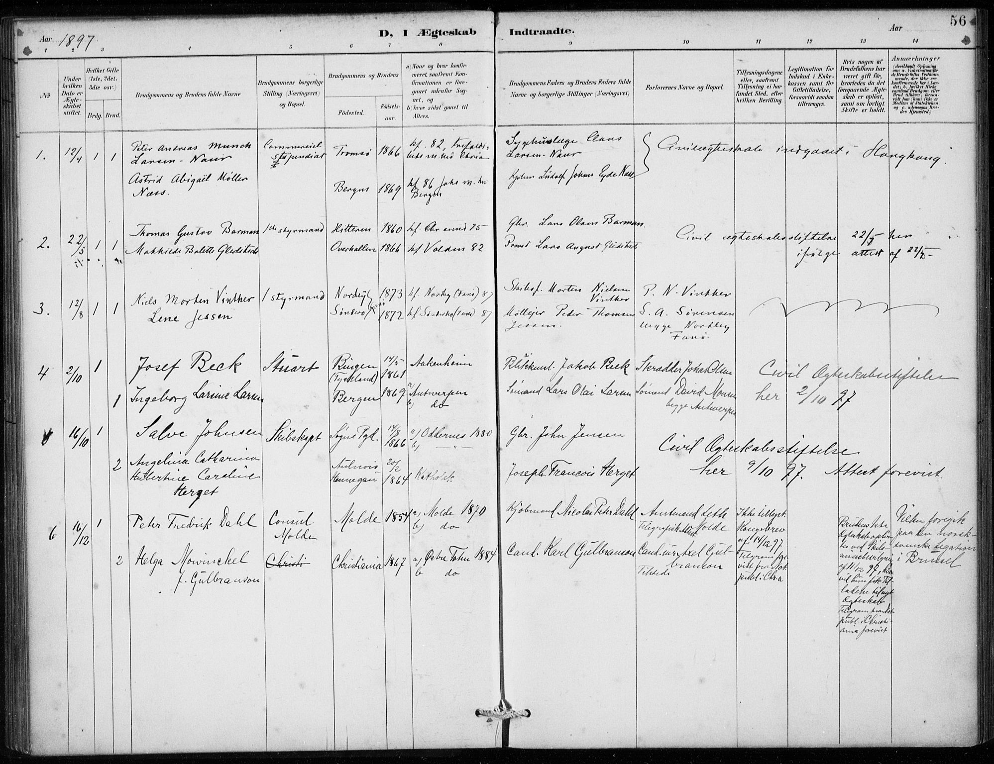 SAB, Den Norske Sjømannsmisjon i utlandet*, Ministerialbok nr. A 2, 1887-1913, s. 56