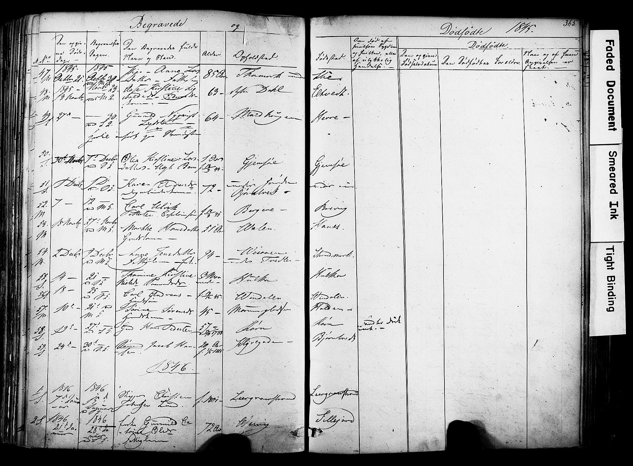 SAKO, Solum kirkebøker, F/Fa/L0006: Ministerialbok nr. I 6, 1844-1855, s. 365