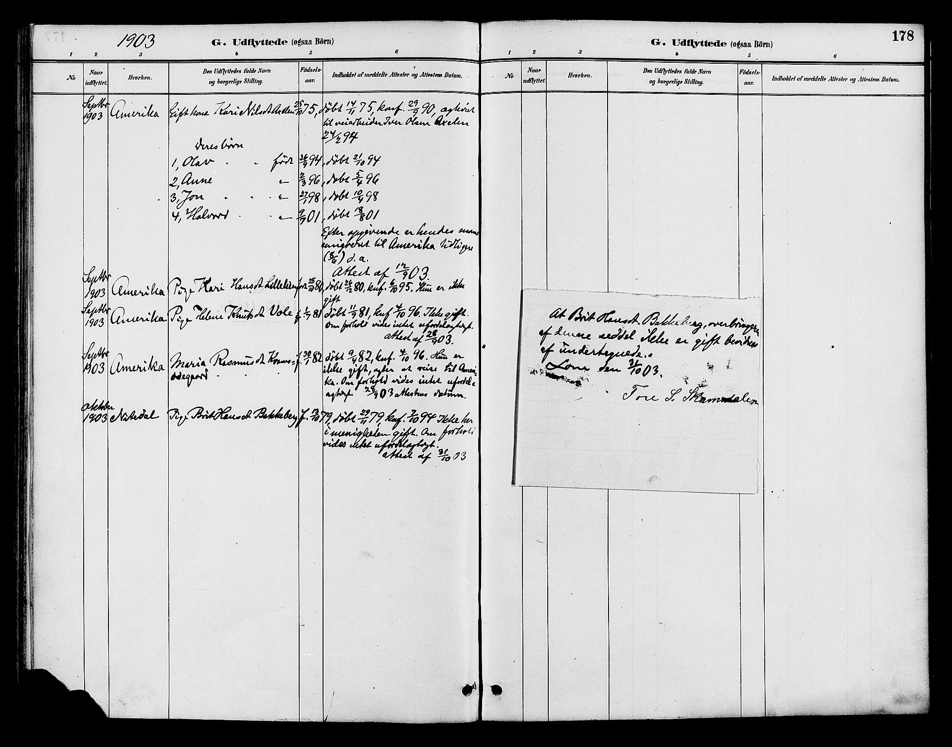 SAH, Lom prestekontor, K/L0008: Ministerialbok nr. 8, 1885-1898, s. 178