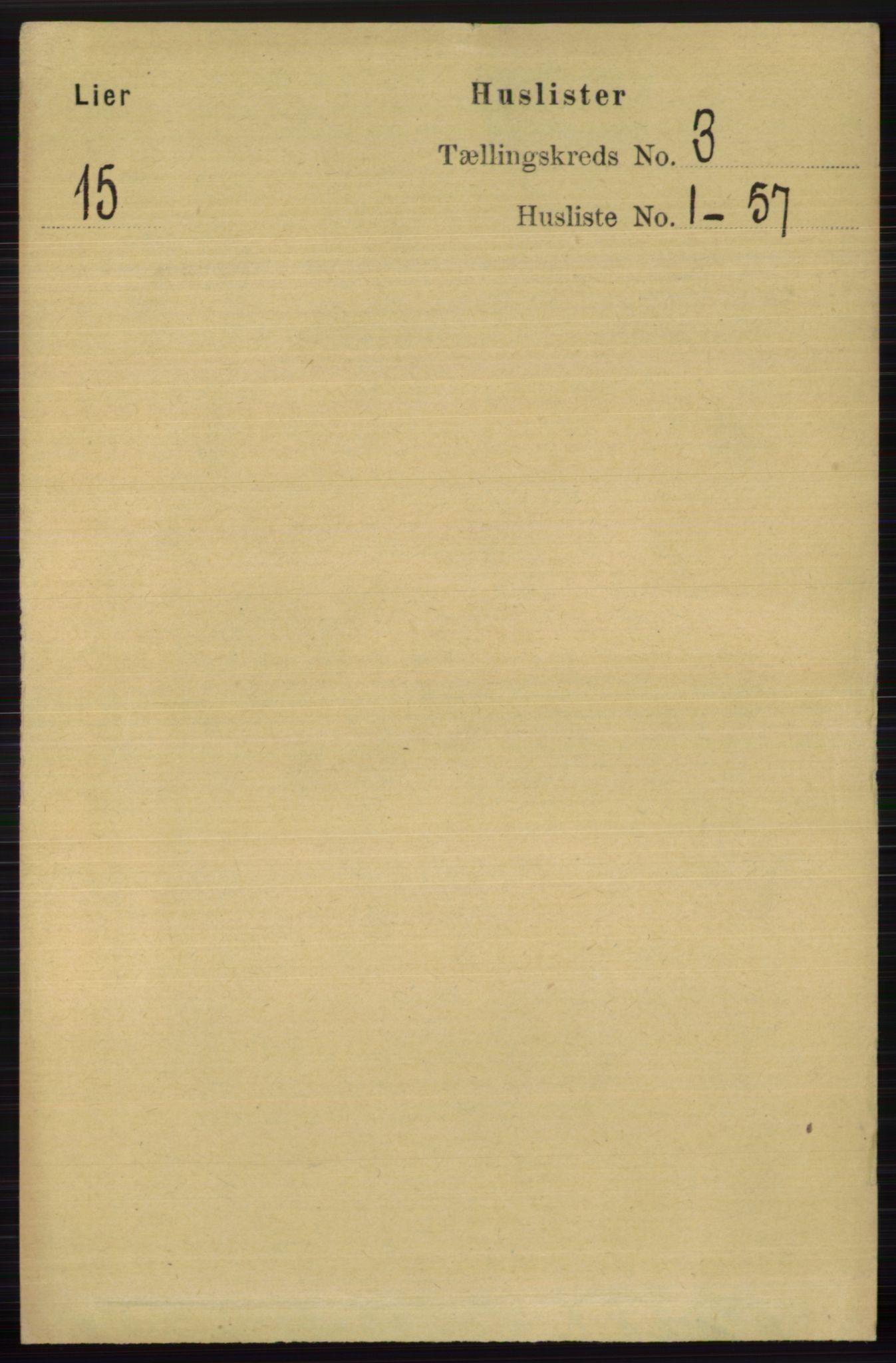RA, Folketelling 1891 for 0626 Lier herred, 1891, s. 2434